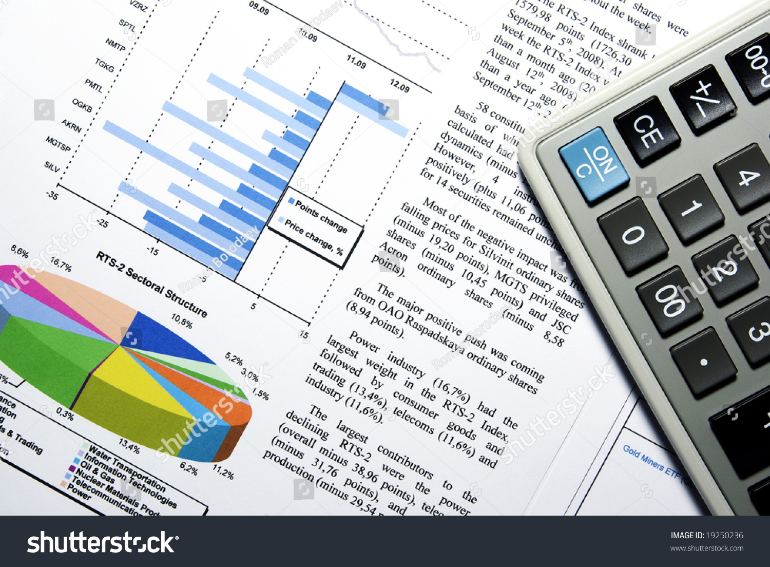 Financial Chart Aid Chart Diagram Document Stock Photo