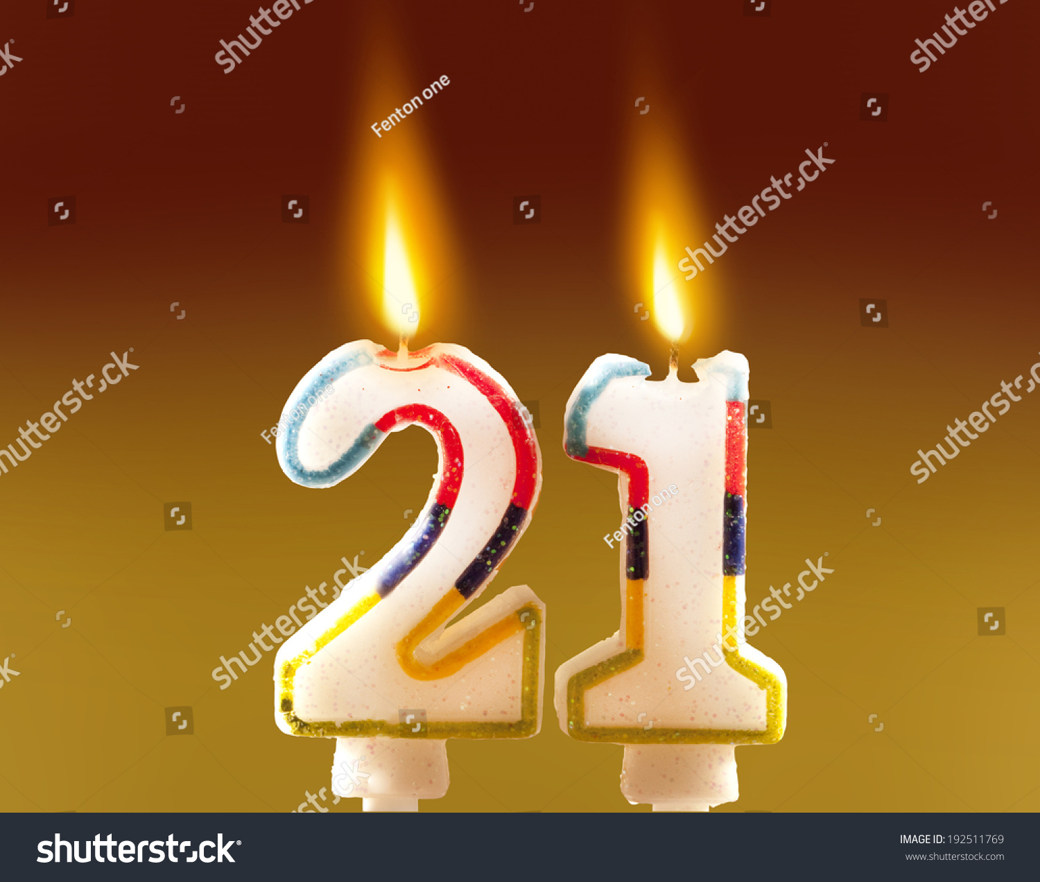 21st Birthday Candles Stock Photo 192511769