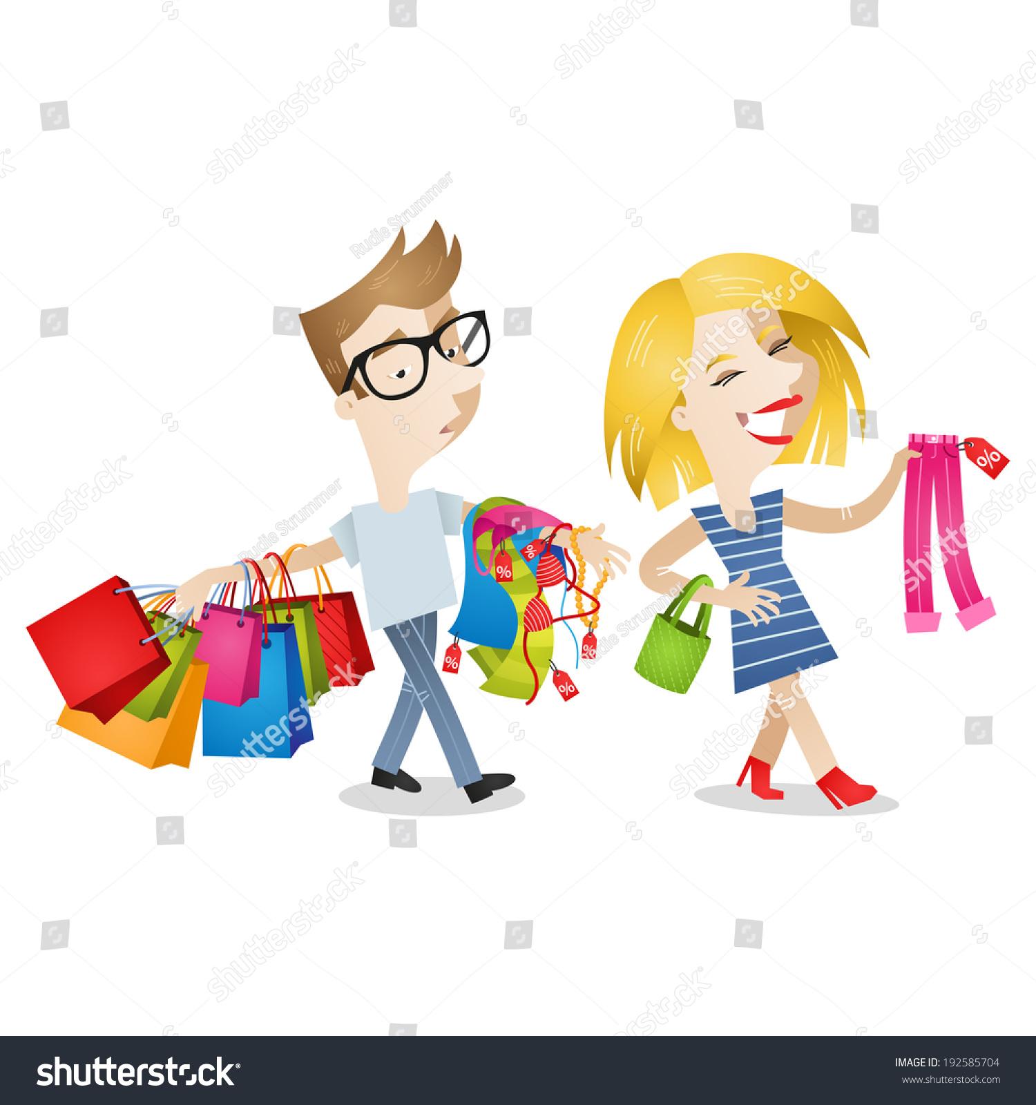 Cartoon Characters Clothes : Clothes shopping cartoon pixshark images