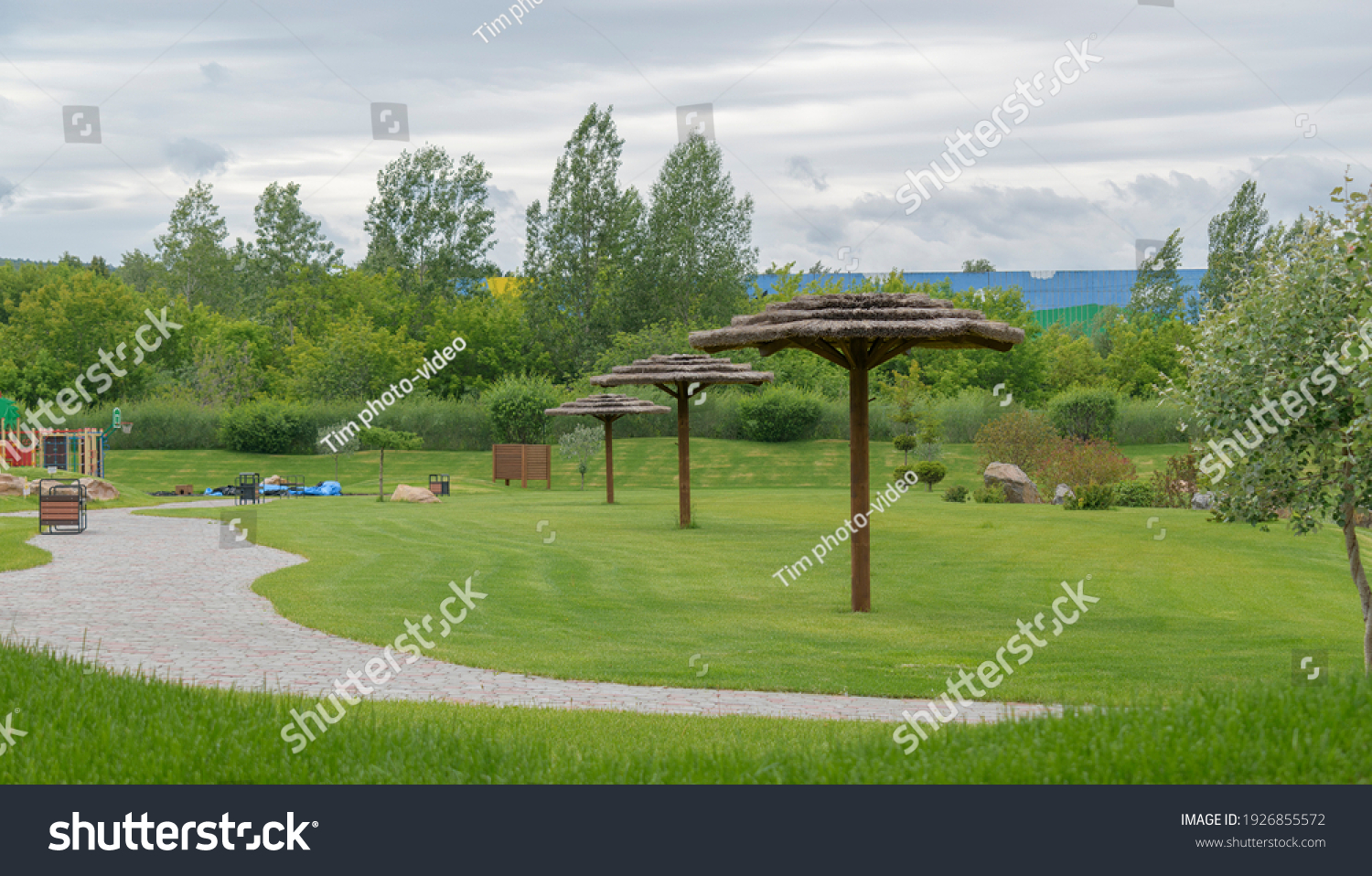 stock-photo-green-lawn-in-summer-mowed-l