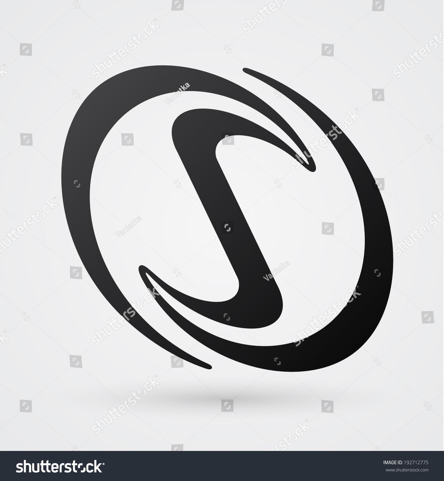 Calligraphy Vector Logo Design Template Infinity Shape