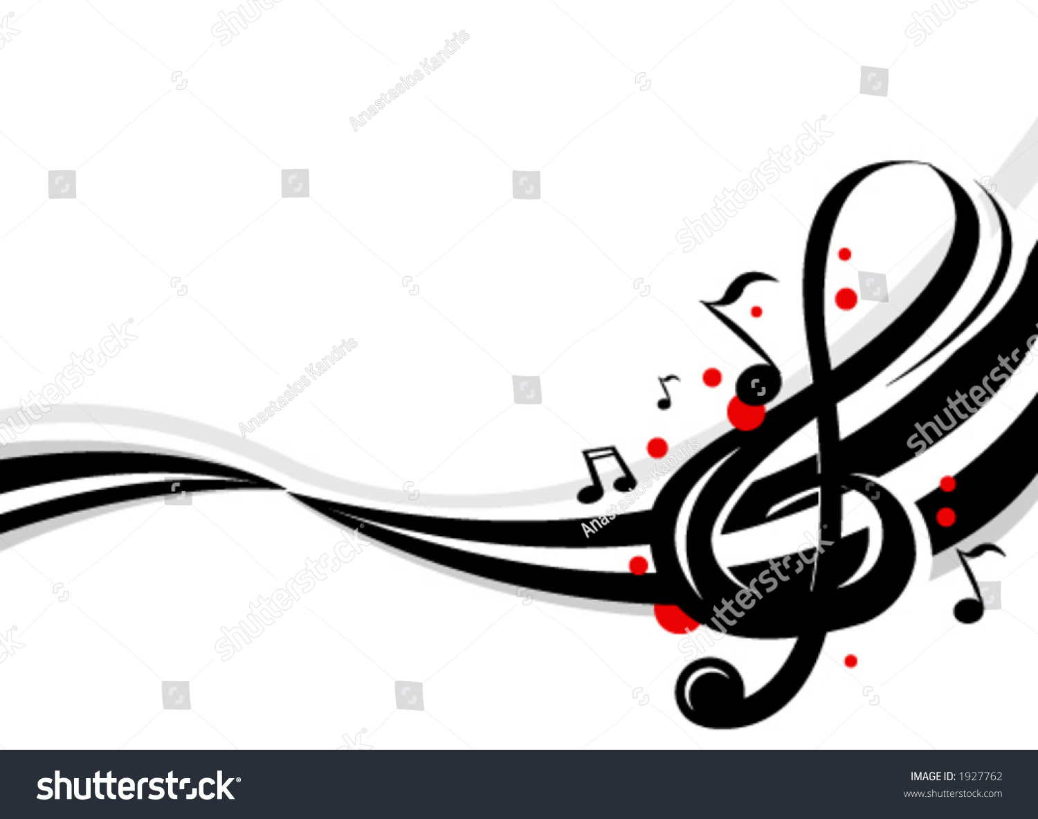 stylish design music notes stock vector 1927762 shutterstock