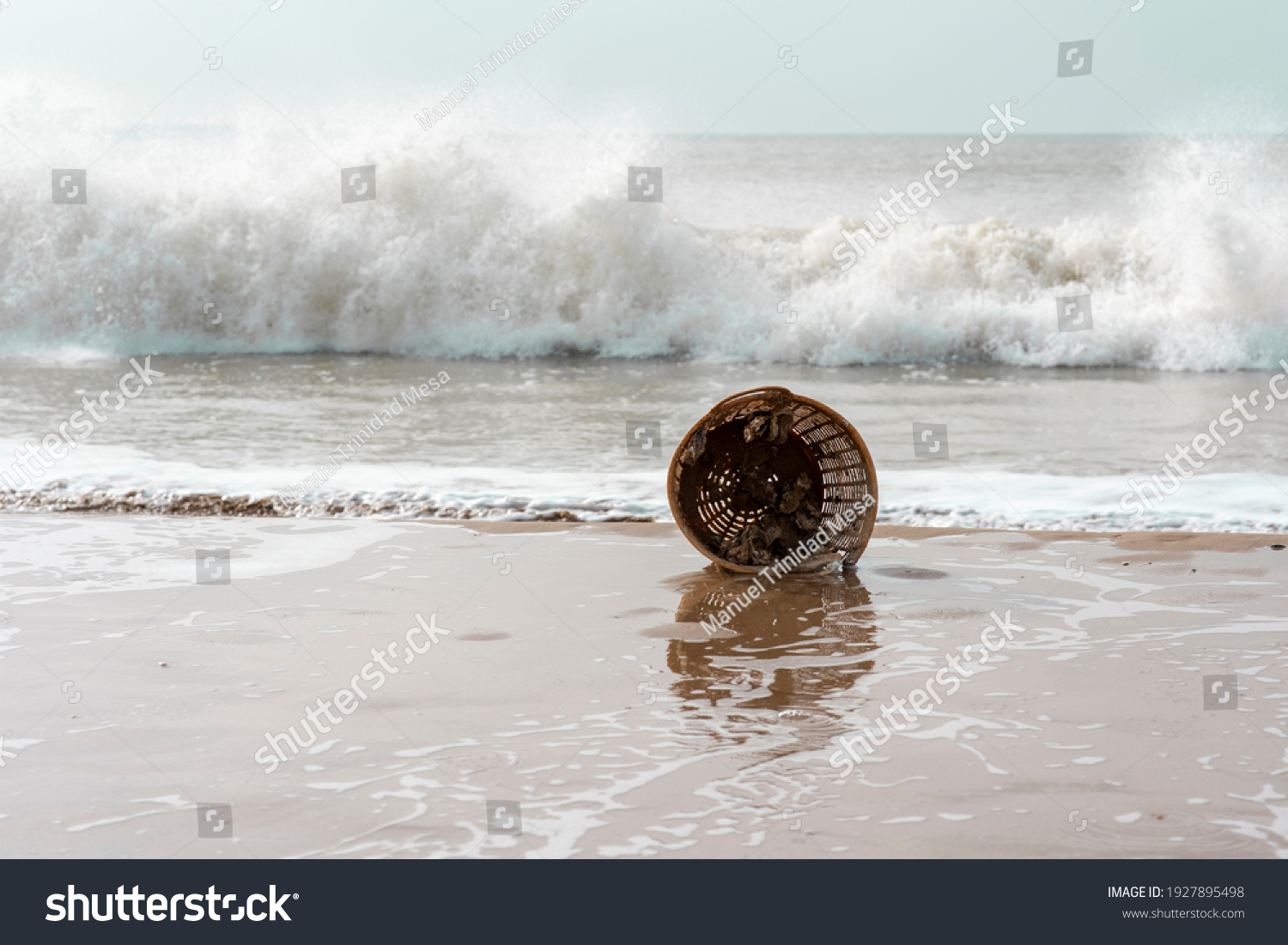 stock-photo-old-plastic-basket-that-has-