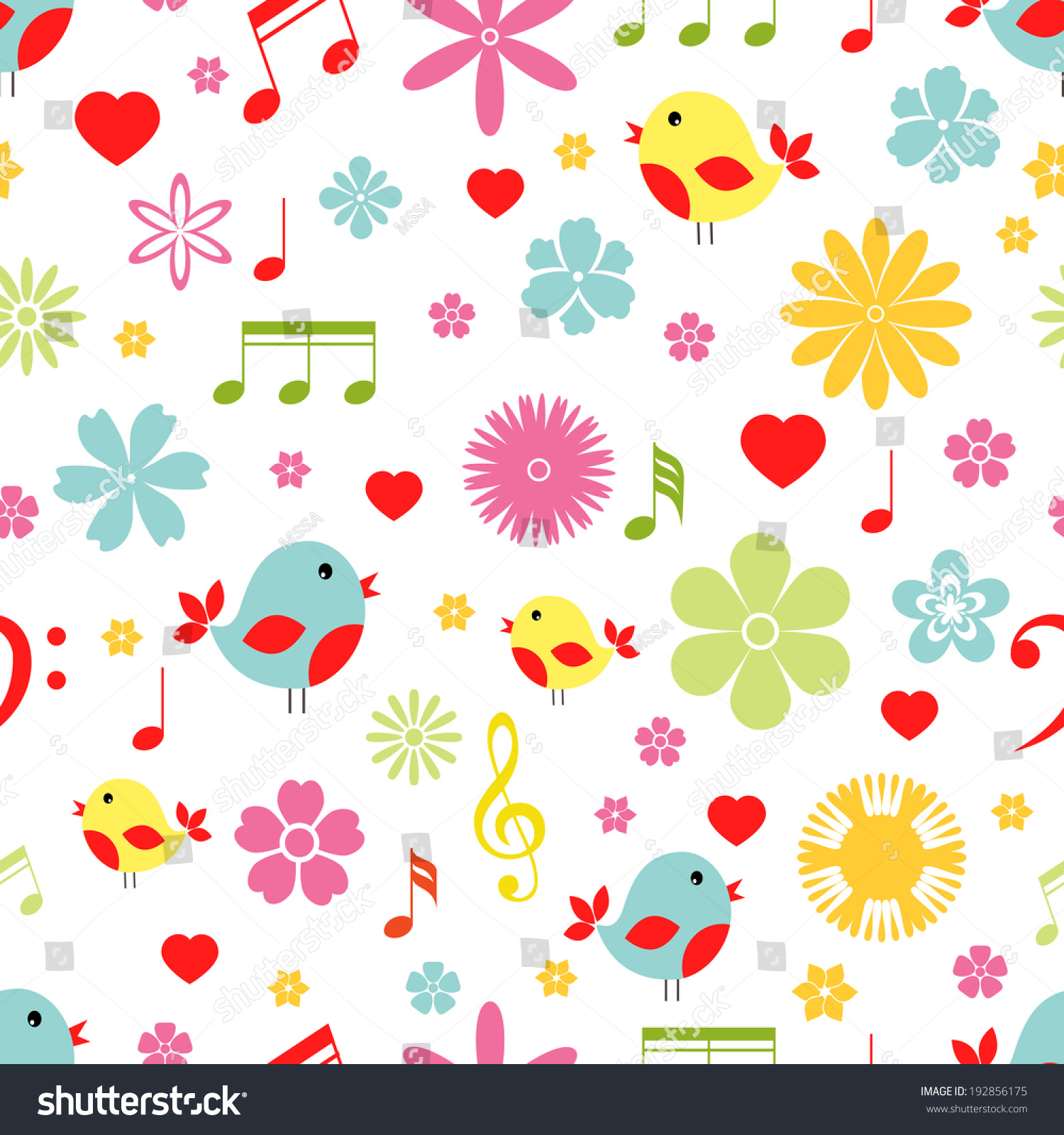 Amazing Wallpaper Music Spring - stock-photo-colorful-spring-flowers-birds-and-music-notes-seamless-background-pattern-in-square-format-192856175  Photograph_795245.jpg