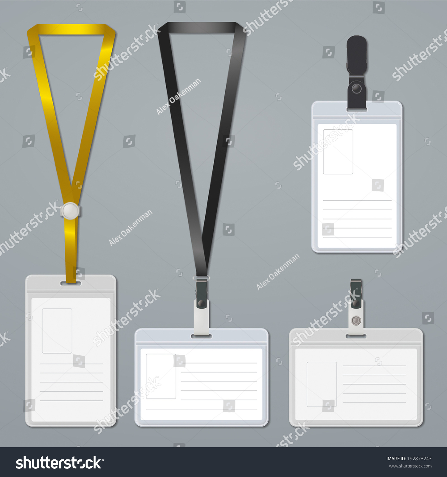Royalty-free Badge, clip and lanyard templates. #192878243 Stock ...