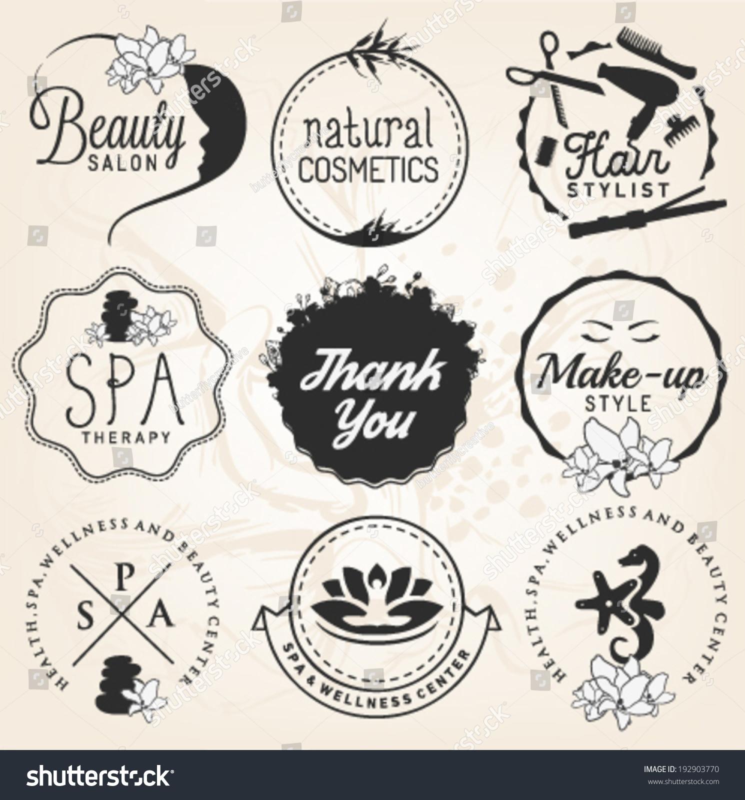Beauty salon spa wellness design elements stock vector for 4 elements salon