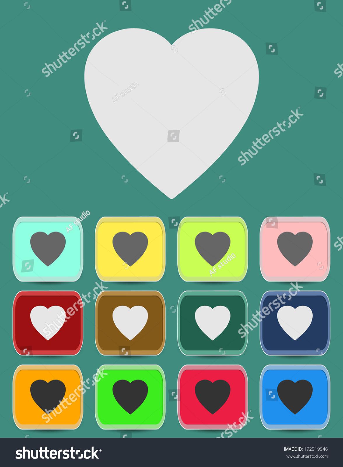 Human heart icons signs symbols love stock vector 192919946 human heart icons signs or symbols for love simple vector graphic this buycottarizona Choice Image