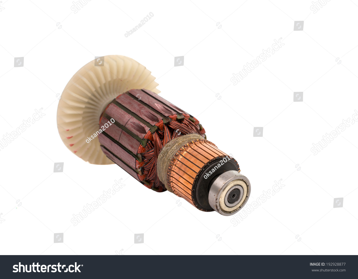 Electric Motor Rotor Isolated White Background Ez Canvas An Electrical Copper Wire With Pipe And Id 192928877