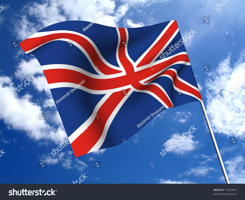 england flag british english blue red stock illustration 19295995