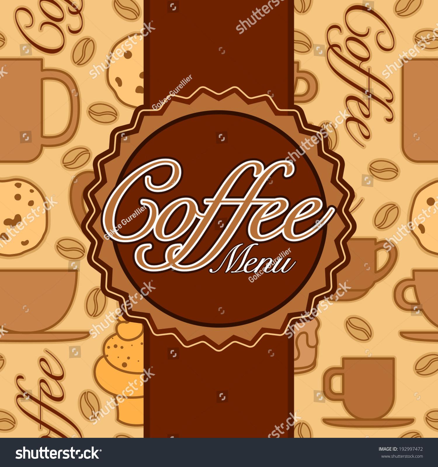 vector coffee menu design coffee shop stock vector 192997472