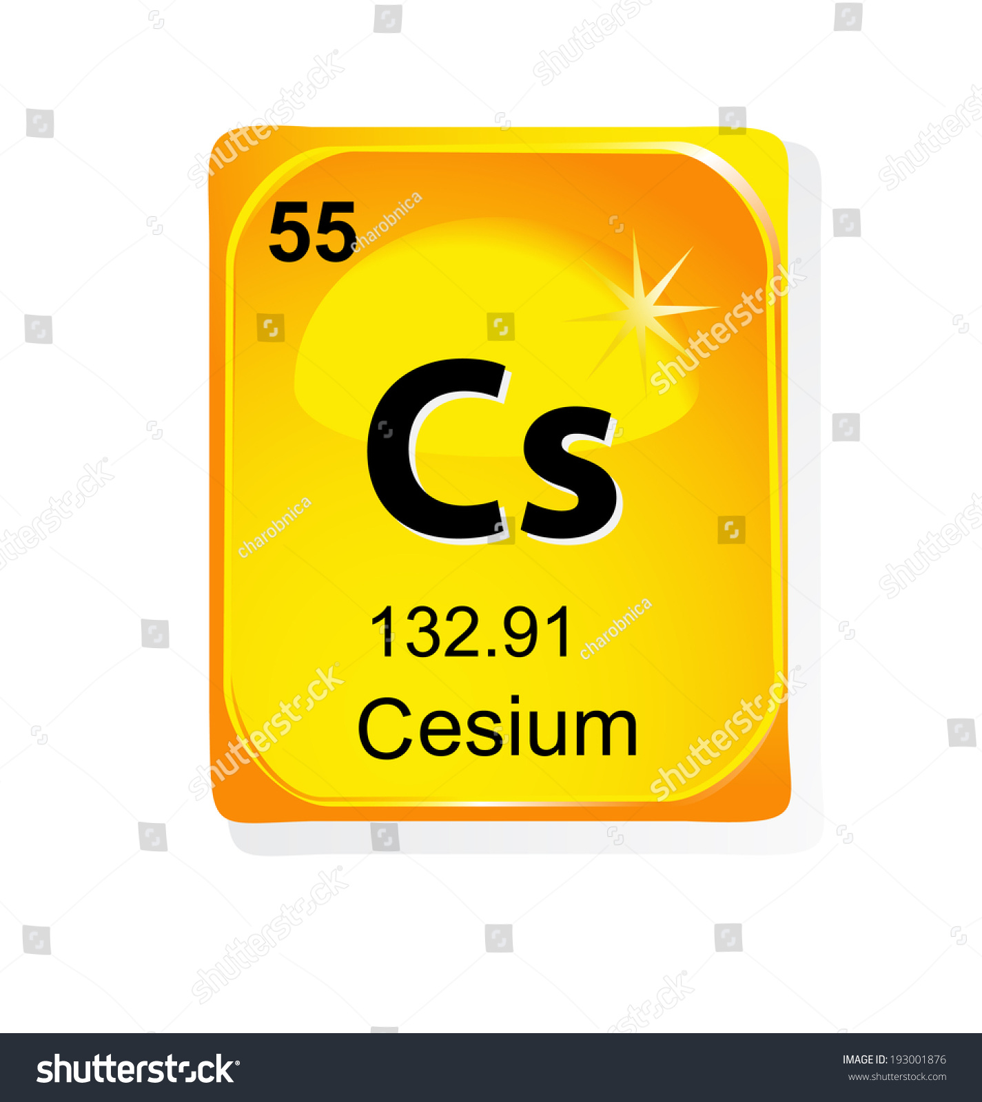 Cesium chemical element atomic number symbol stock vector cesium chemical element with atomic number symbol and weight gamestrikefo Choice Image