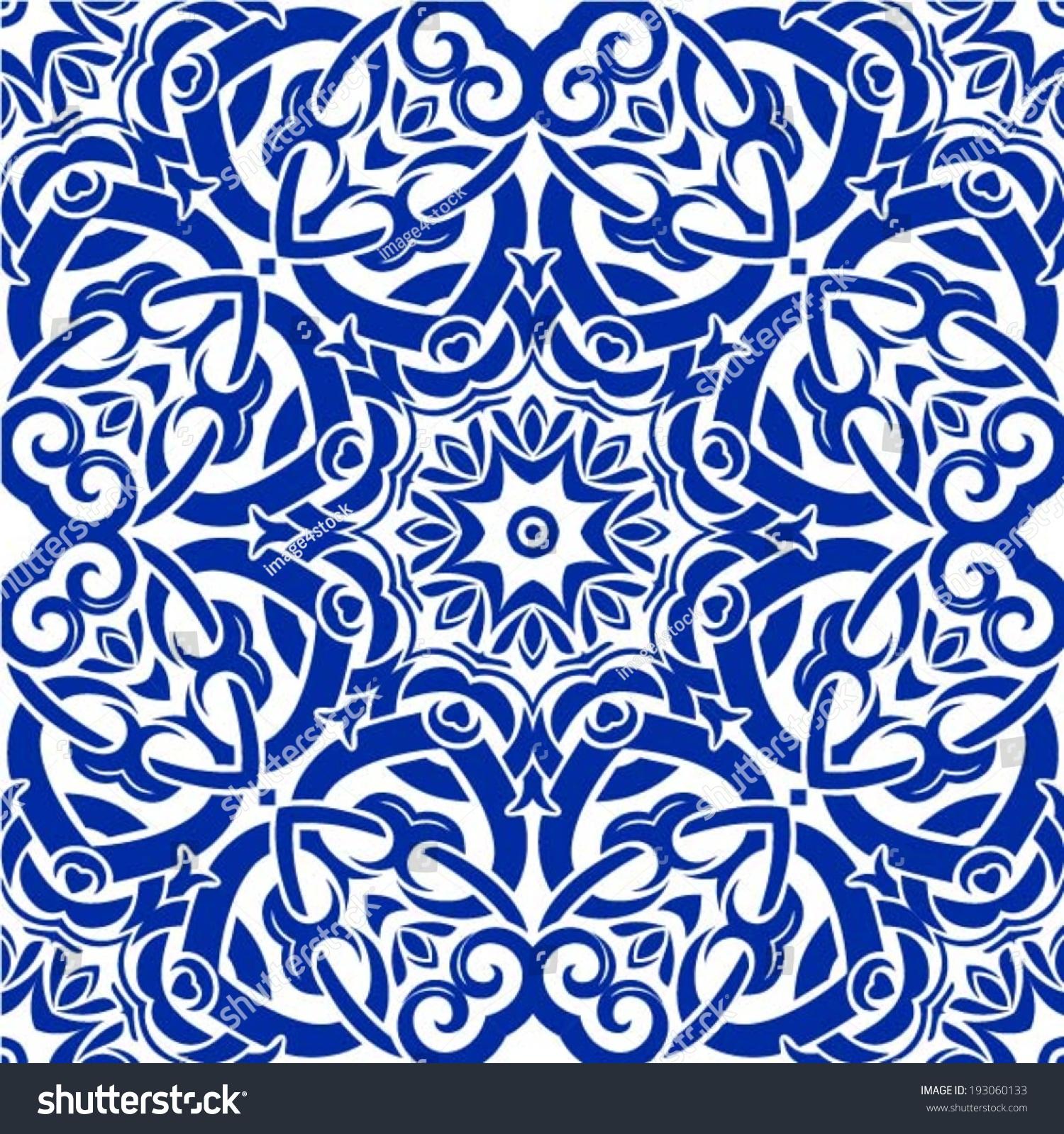 Stock Vector Oriental Traditional Ornament Mediterranean Seamless Patt...