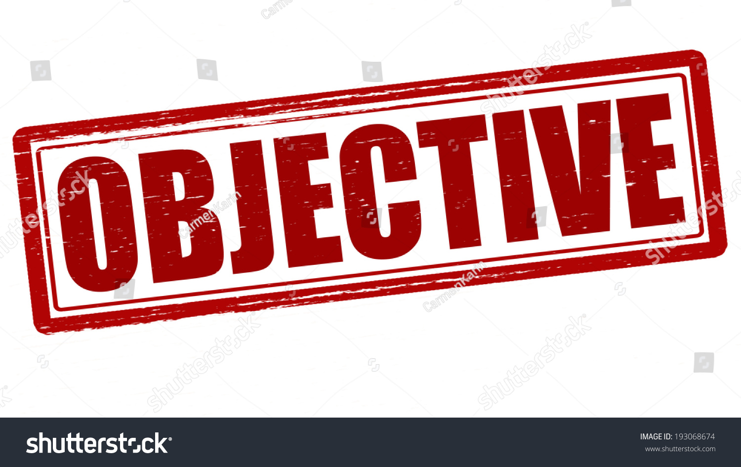 stamp word objective inside vector illustration stock vector