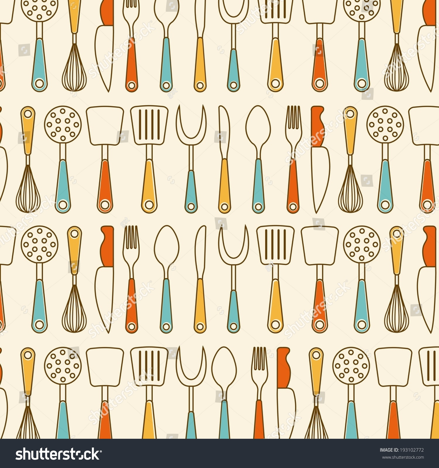 Kitchen design over beige background vector stock vector for Kitchen design vector