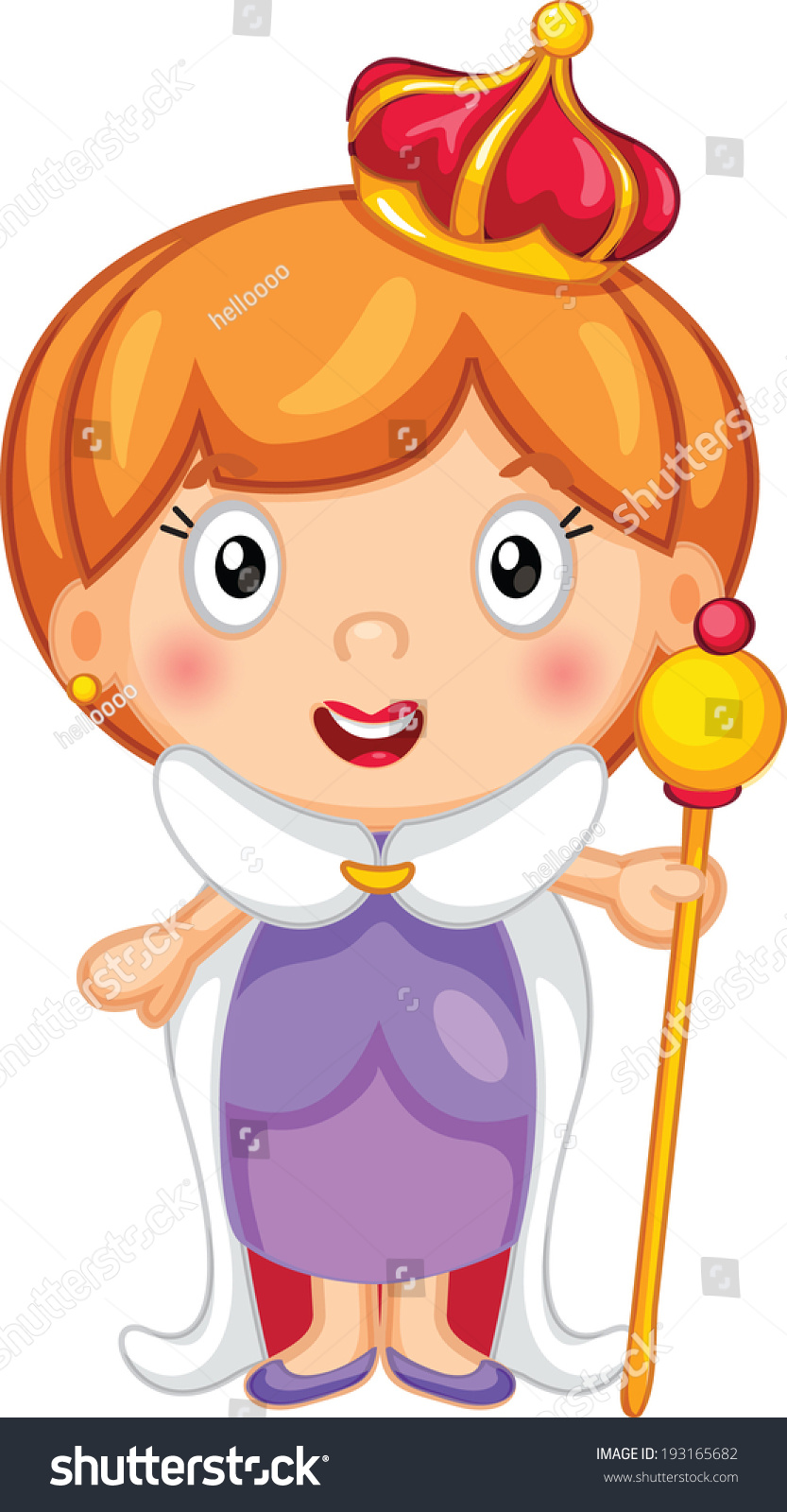 Cartoon Characters That Start With Q : Cute queen cartoon stock vector shutterstock