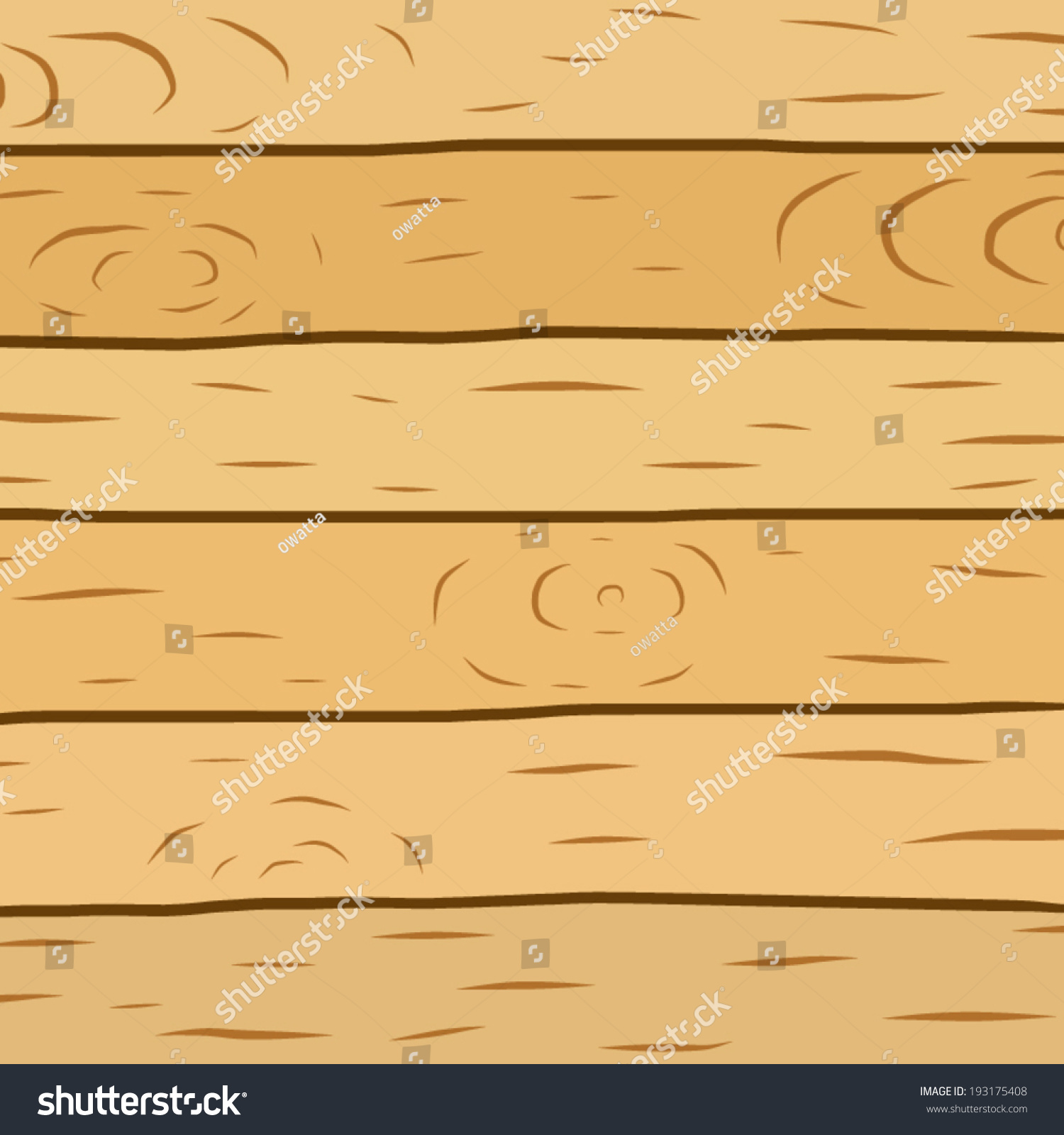 Wood plank brown texture background cartoon stock vector