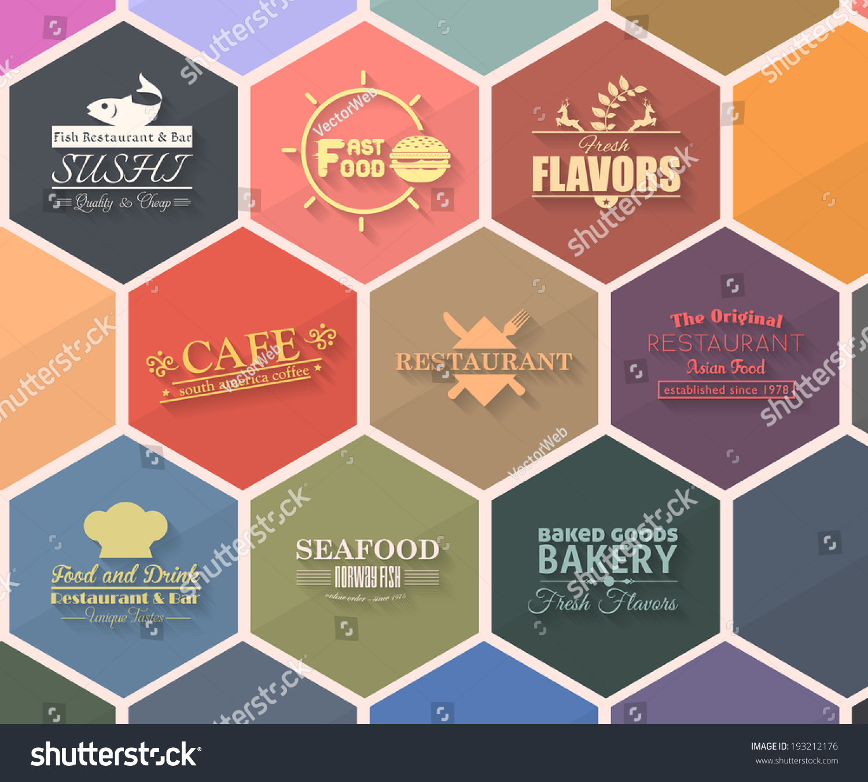 Vector De Stock Libre De Regalias Sobre Food Drink Restaurant Retro Tag Sticker193212176