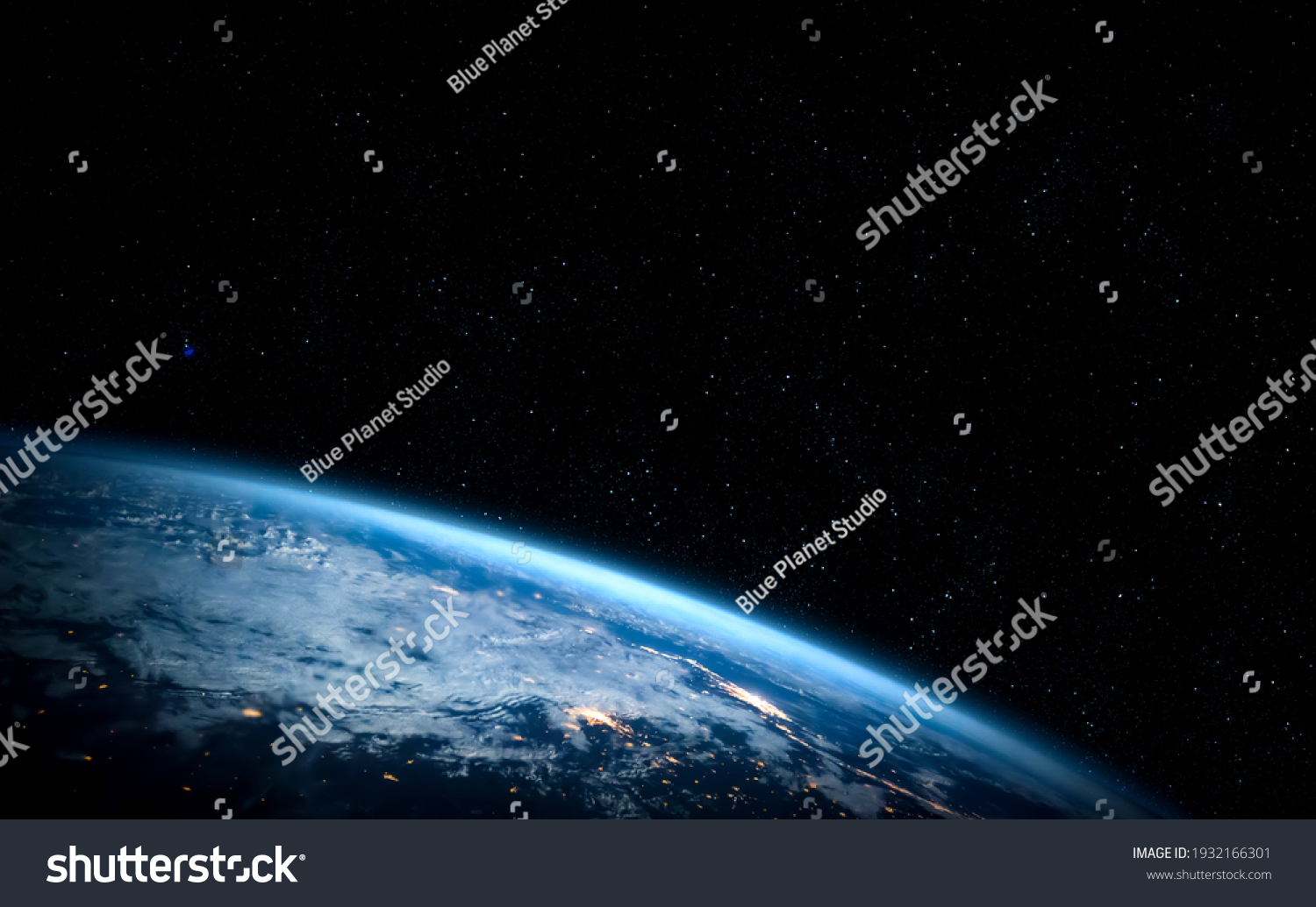 Planet earth globe view from space showing realistic earth surface and world map as in outer space point of view . Elements of this image furnished by NASA planet earth from space photos. #1932166301