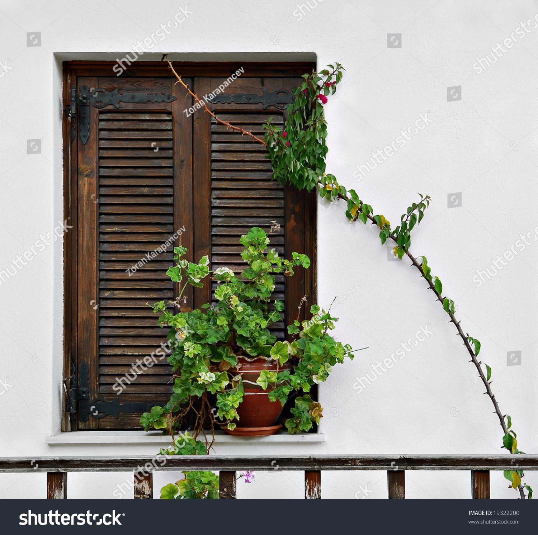 Mediterranean Style Windows Viendoraglass Com: Mediterranean Window Stock Photo 19322200