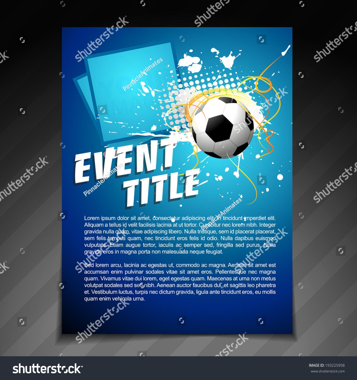 Vector sports brochure flyer template design stock vector for Sports brochure templates