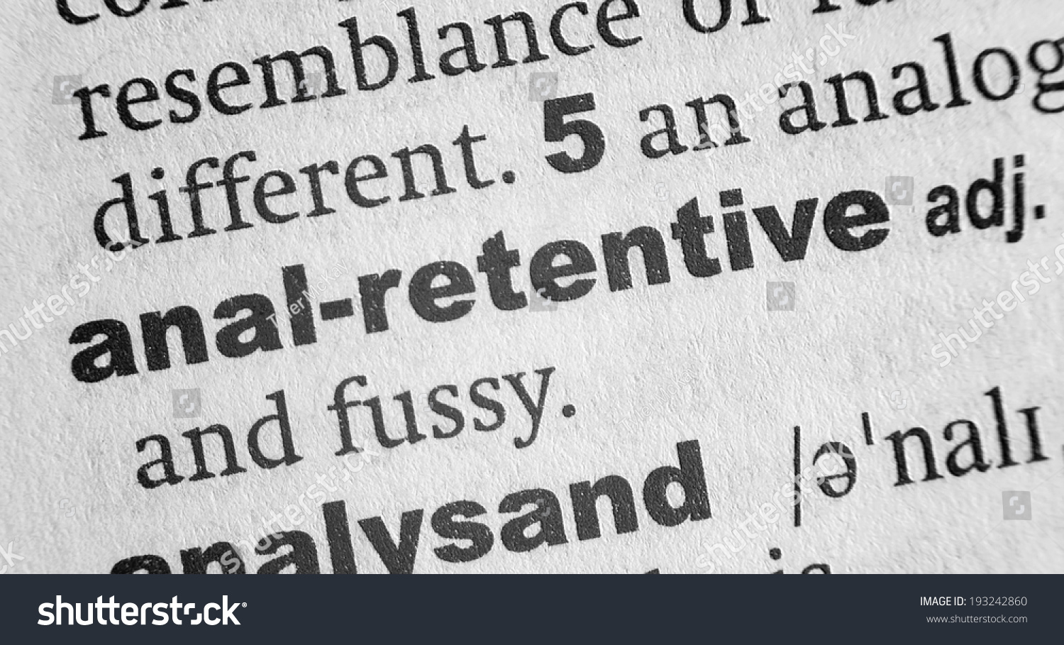Speaking, would anal definition retentive