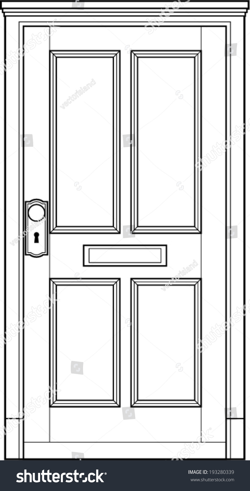 Front door clipart -  Front Door Clipart Black And White
