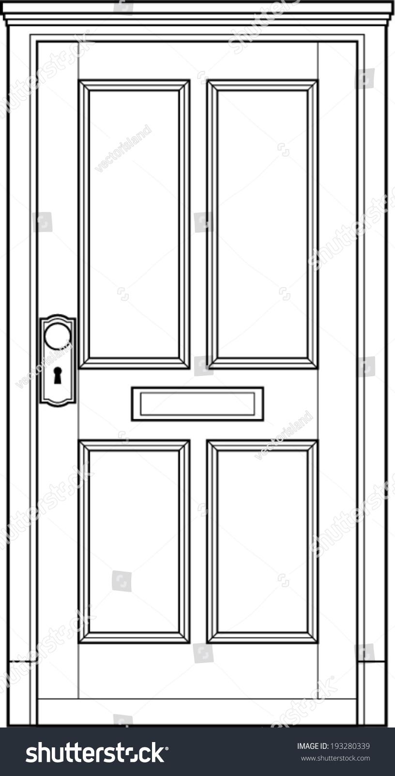 door line art stock vector 193280339 shutterstock. Black Bedroom Furniture Sets. Home Design Ideas