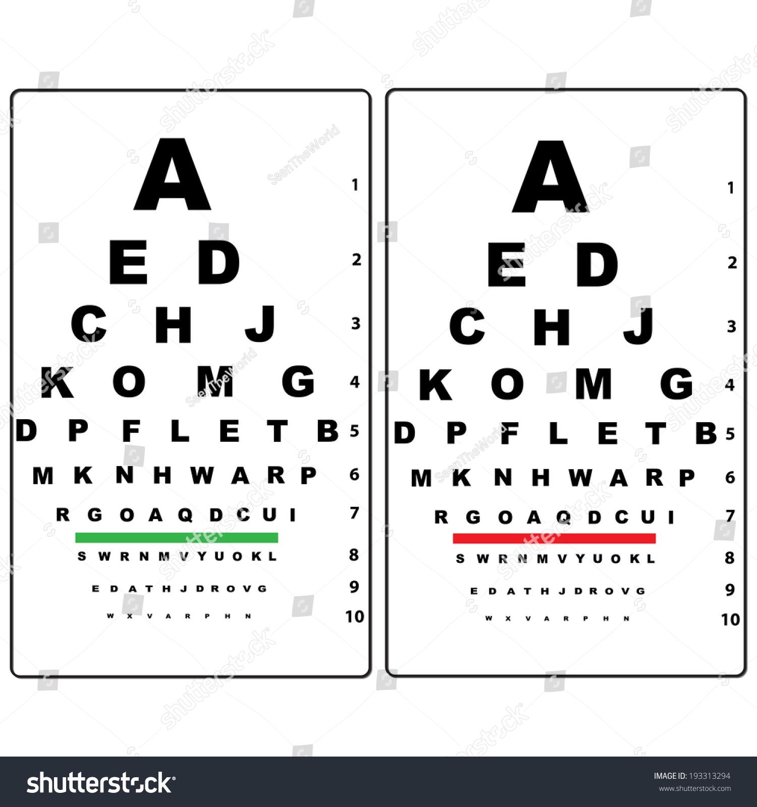 Eye test chart stock vector 193313294 shutterstock nvjuhfo Choice Image