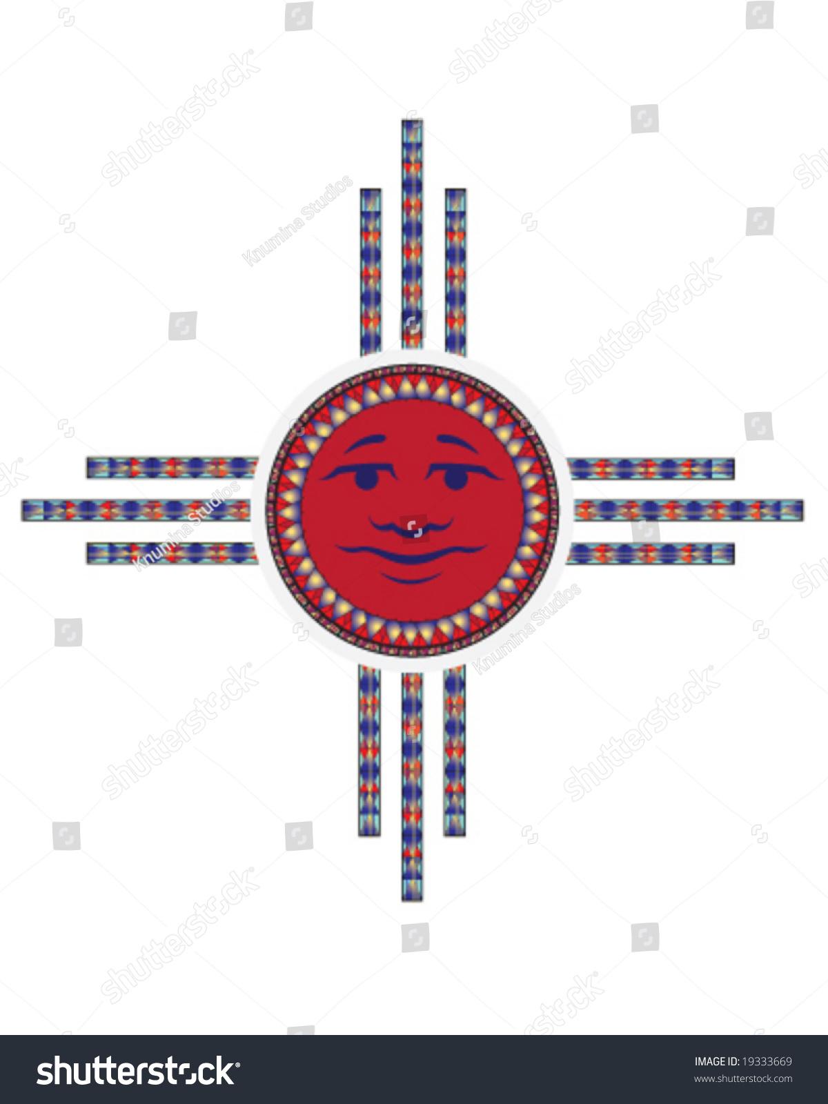 Vector Hopi Sun Symbol Sun Face Stock Vector 19333669 ... Hopi Sun Symbol