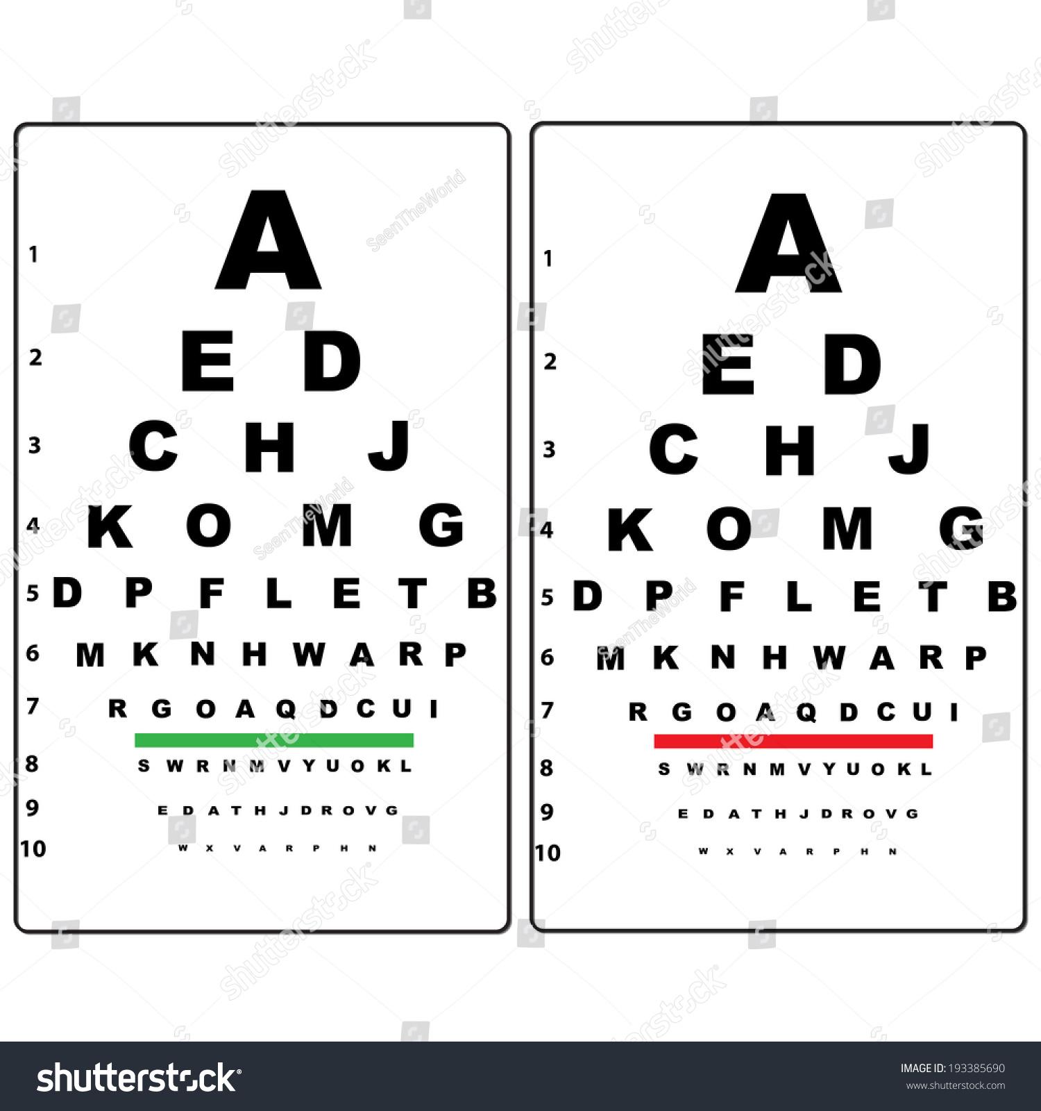 Eye test chart stock vector 193385690 shutterstock eye test chart geenschuldenfo Image collections