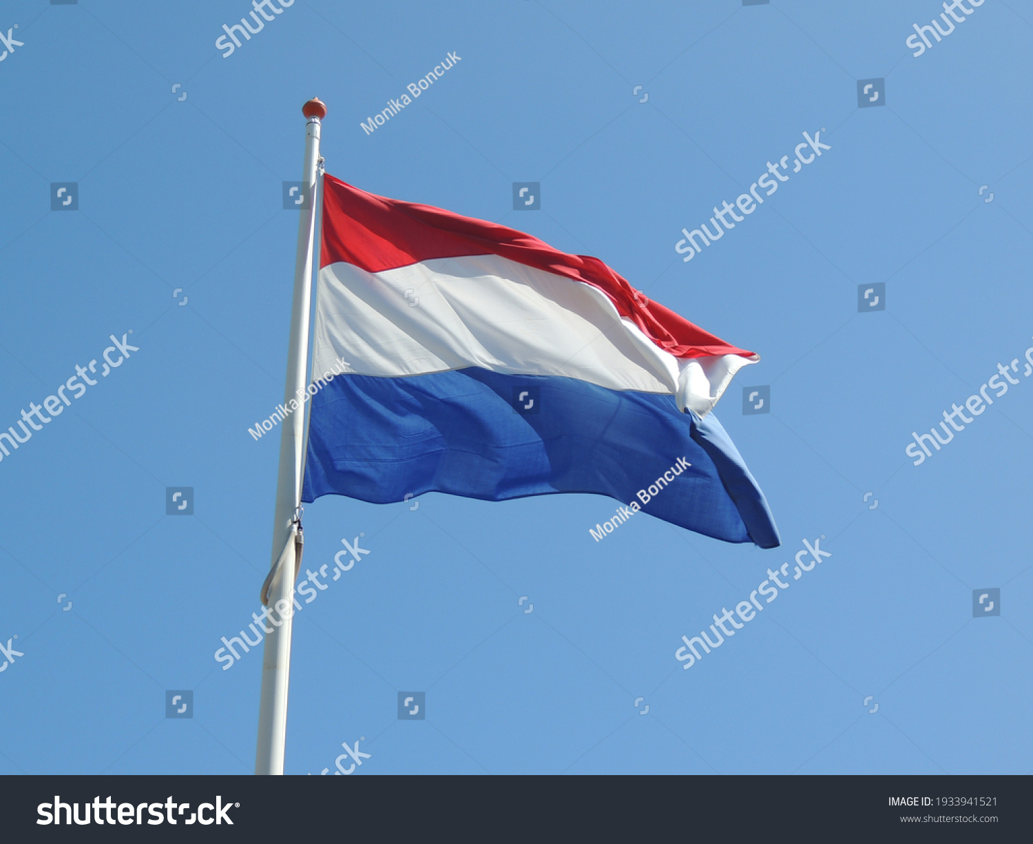stock-photo-the-flag-of-netherlands-on-a