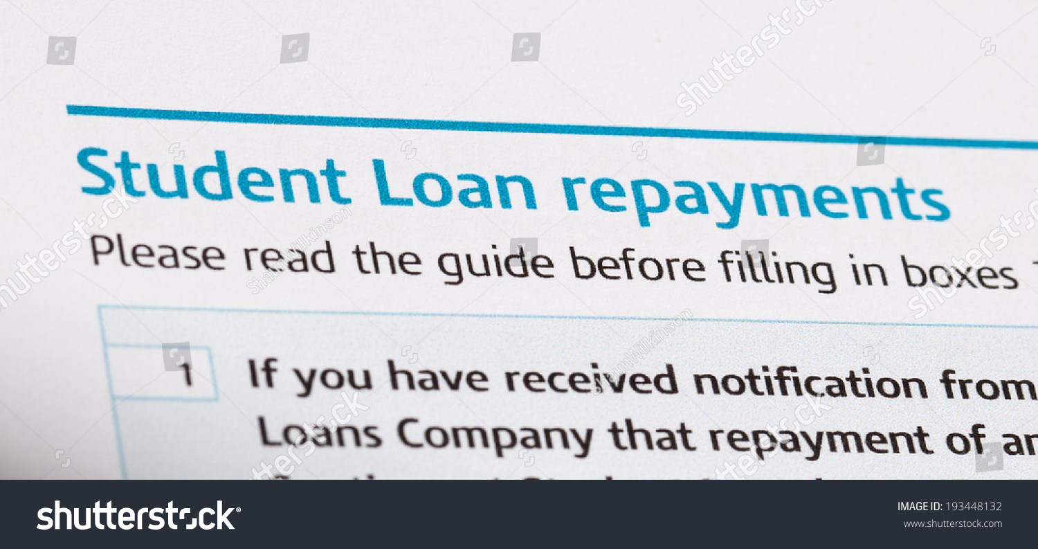 Student Loan Repayments On Tax Form Stock Photo 193448132 ...