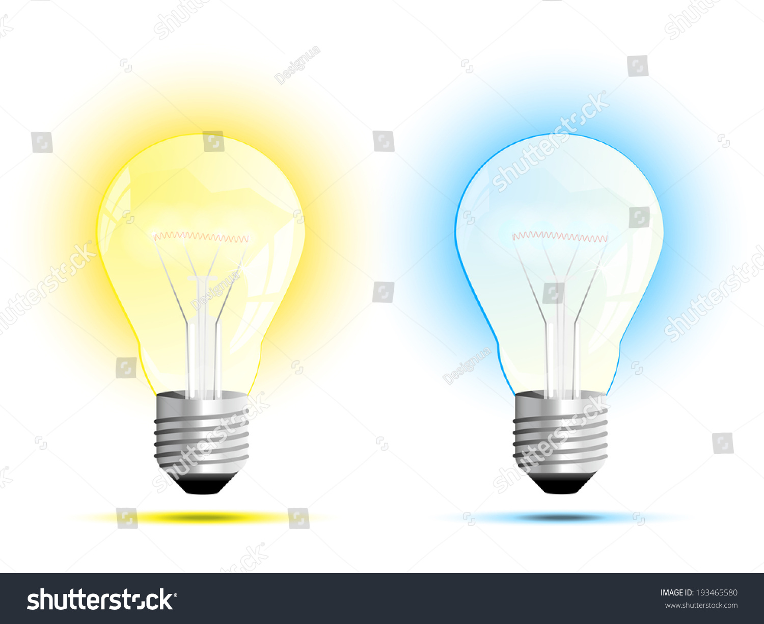 Incandescent Light Bulb Soft White And Daylight Or Warm White And Cool White Vector
