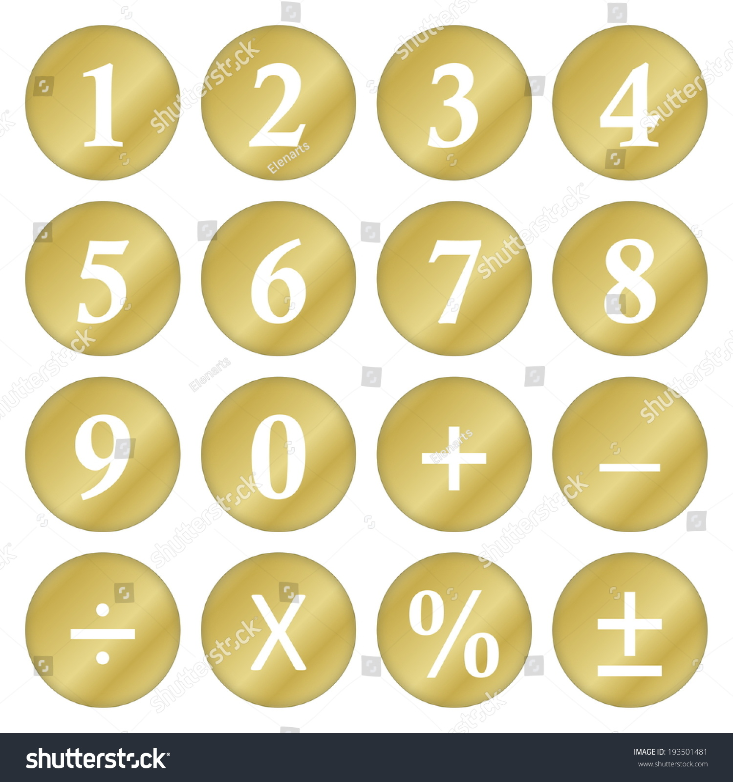 Golden mathematical numbers symbols isolated white stock golden mathematical numbers and symbols isolated in white background biocorpaavc Choice Image