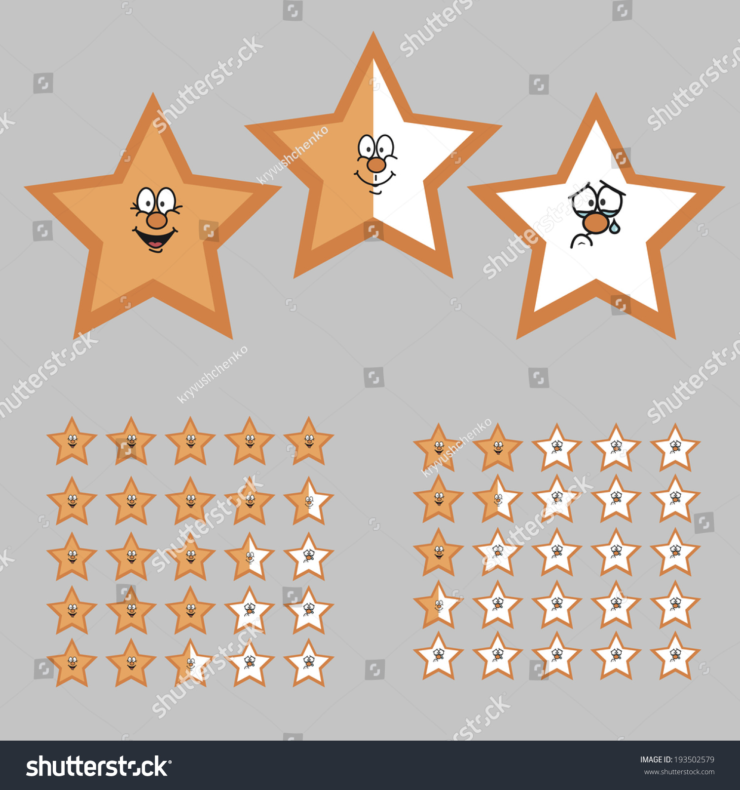 Stock Vector Rating With