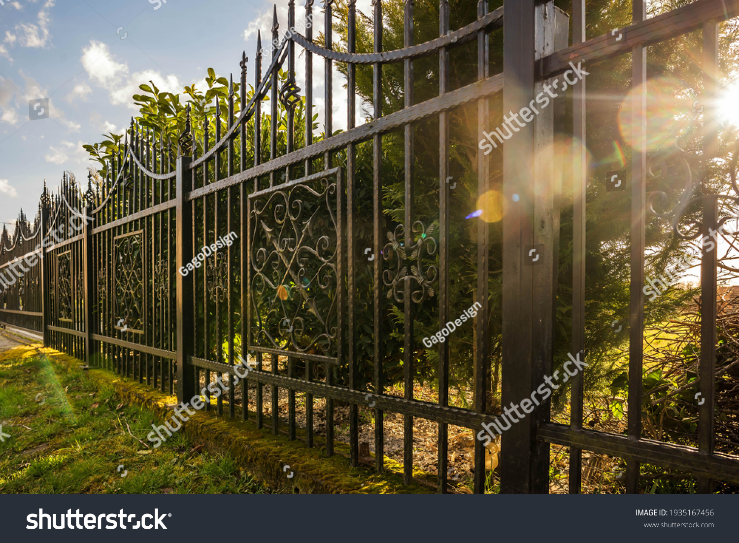 Wrought Iron Fence. Metal fence #1935167456