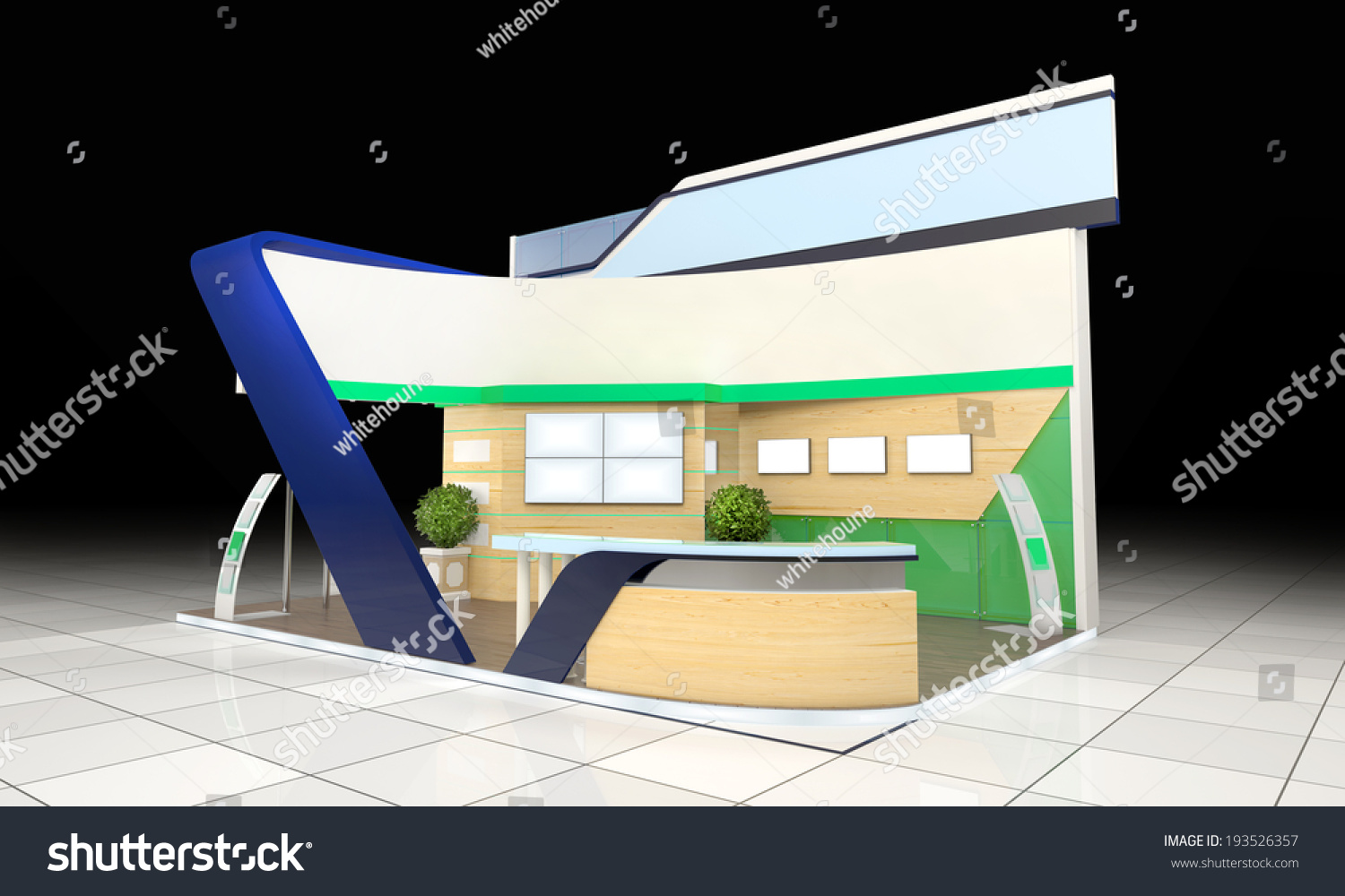 Modern Exhibition Stand Out : Modern business exhibition stand design blank stock