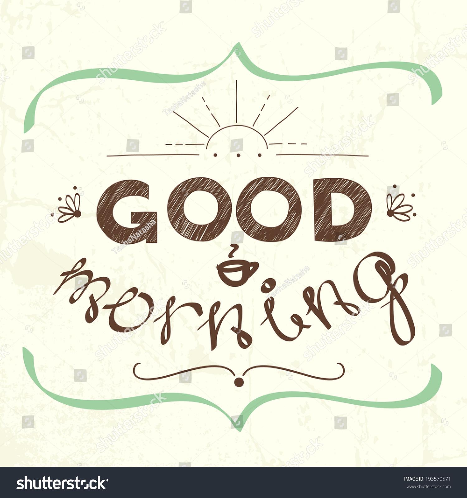 Letter Greeting Good Morning