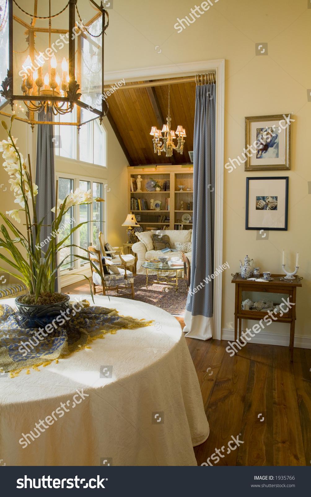 Elegant sunlit traditional living room stock photo 1935766 for Elegant traditional living rooms
