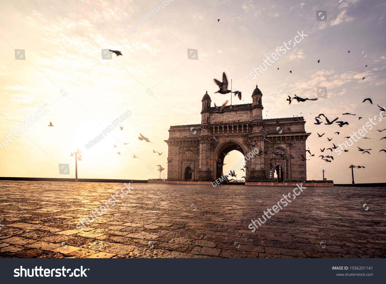 Gateway of India, Mumbai Maharashtra monument landmark famous place  magnificent view without people sunset #1936201141