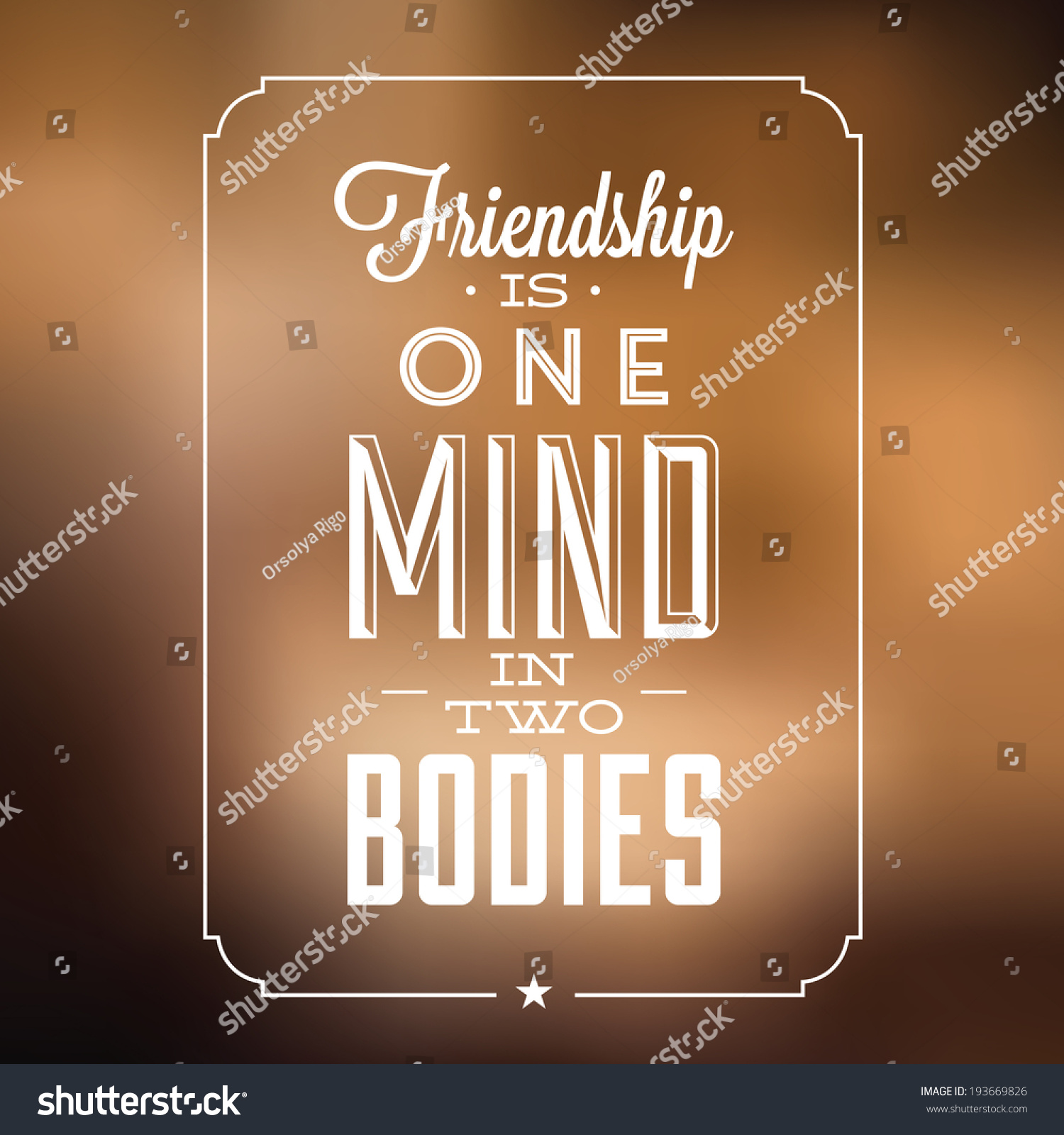 Inspirational Quote About Friendship Inspirational Quote About Friendship Friendship One Stock Vector