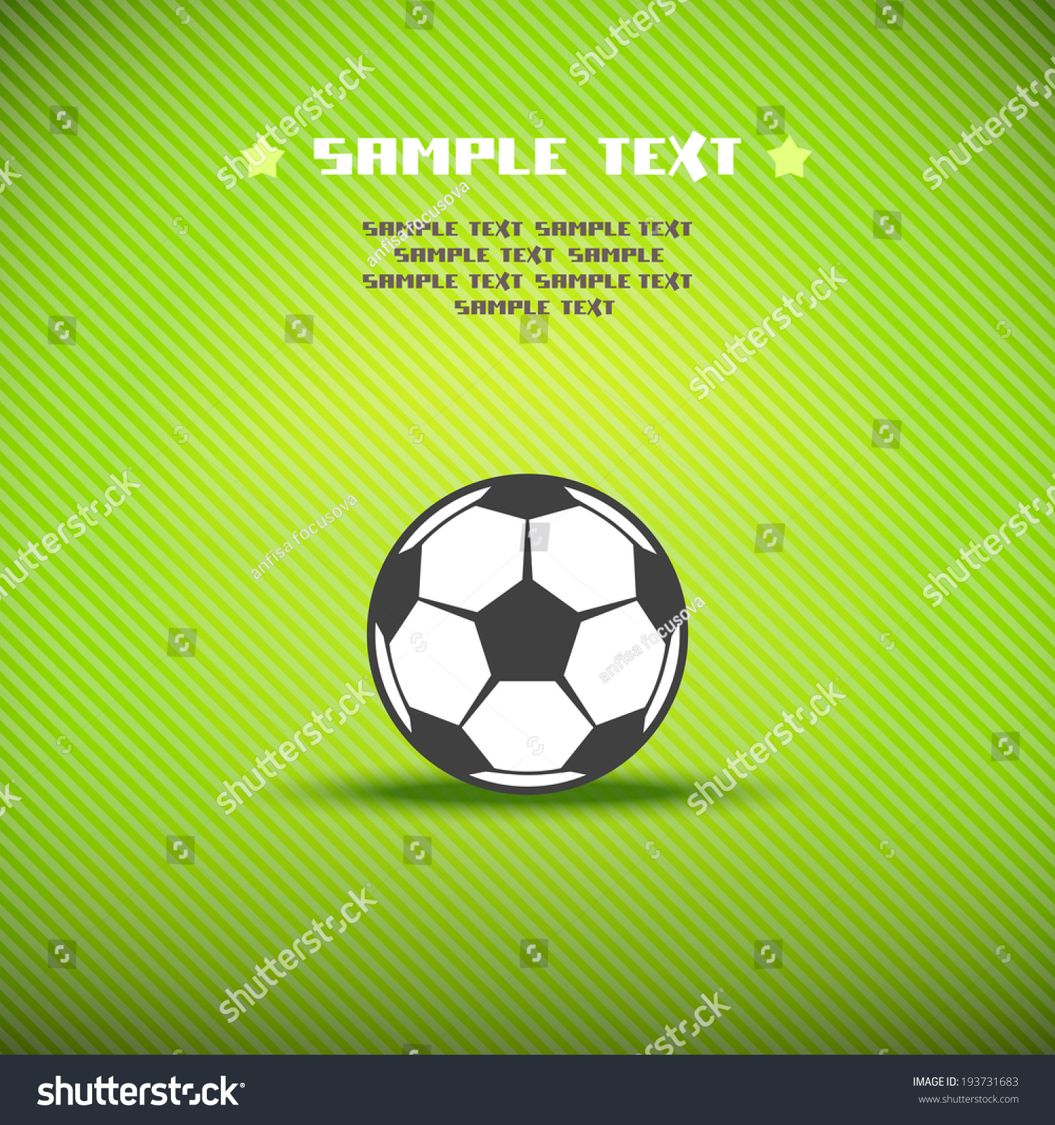 vector soccer ball on playfield sport stock vector 193731683