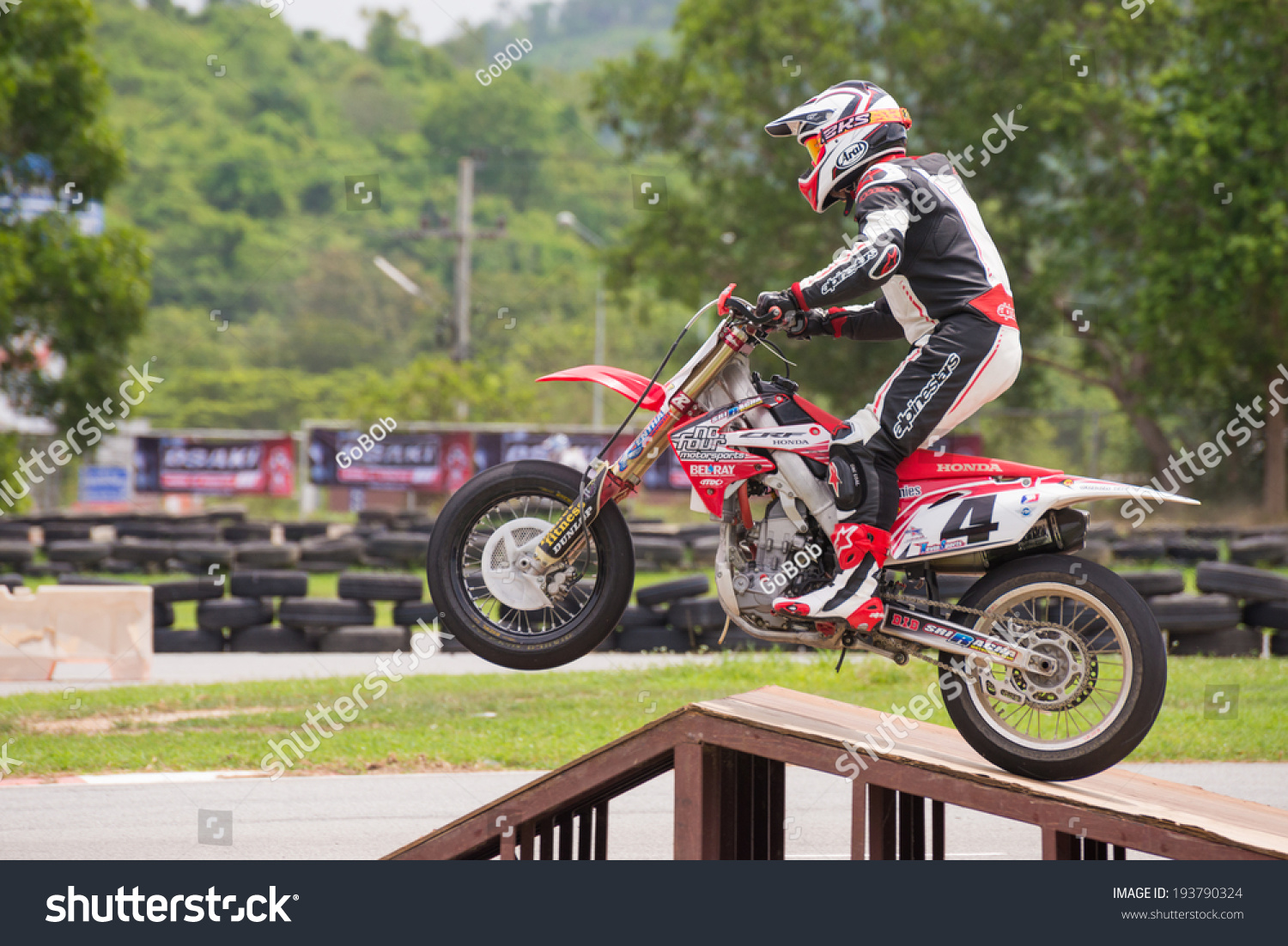 Chonburi May 102014 Unidentified Racers Honda Stock Photo Edit Now 2015 Dirt Bikes 250cc Crf 250 In Super Moto 2014