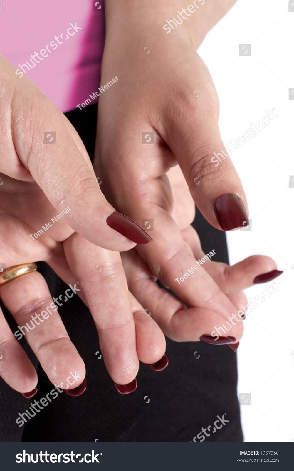Young Woman Her Fingers Crossed Behind Stock Photo (Royalty Free ...