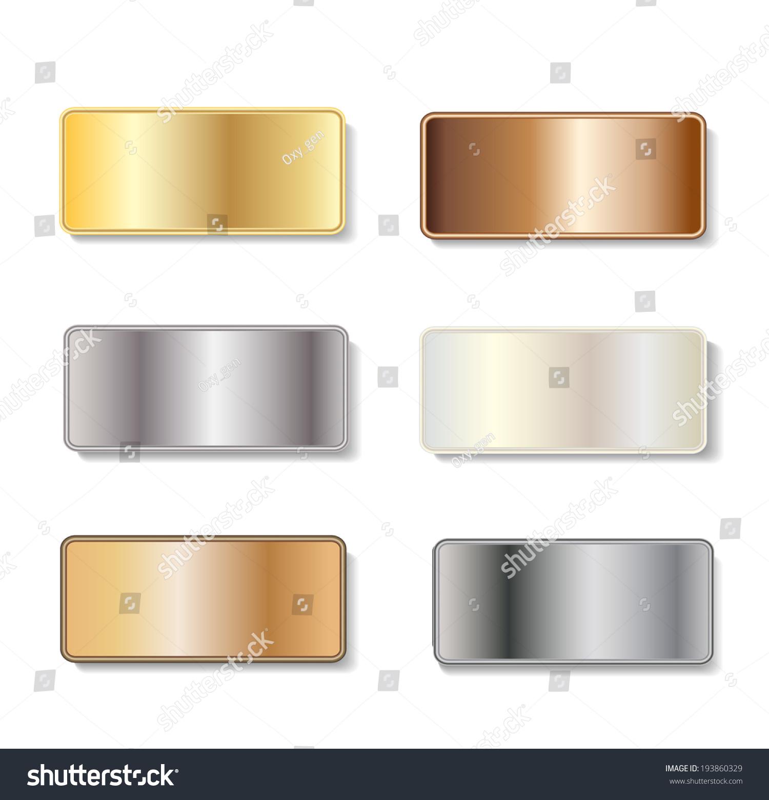 Picture of: Vector De Stock Libre De Regalias Sobre Metal Door Plaques Gold Silver Brass193860329