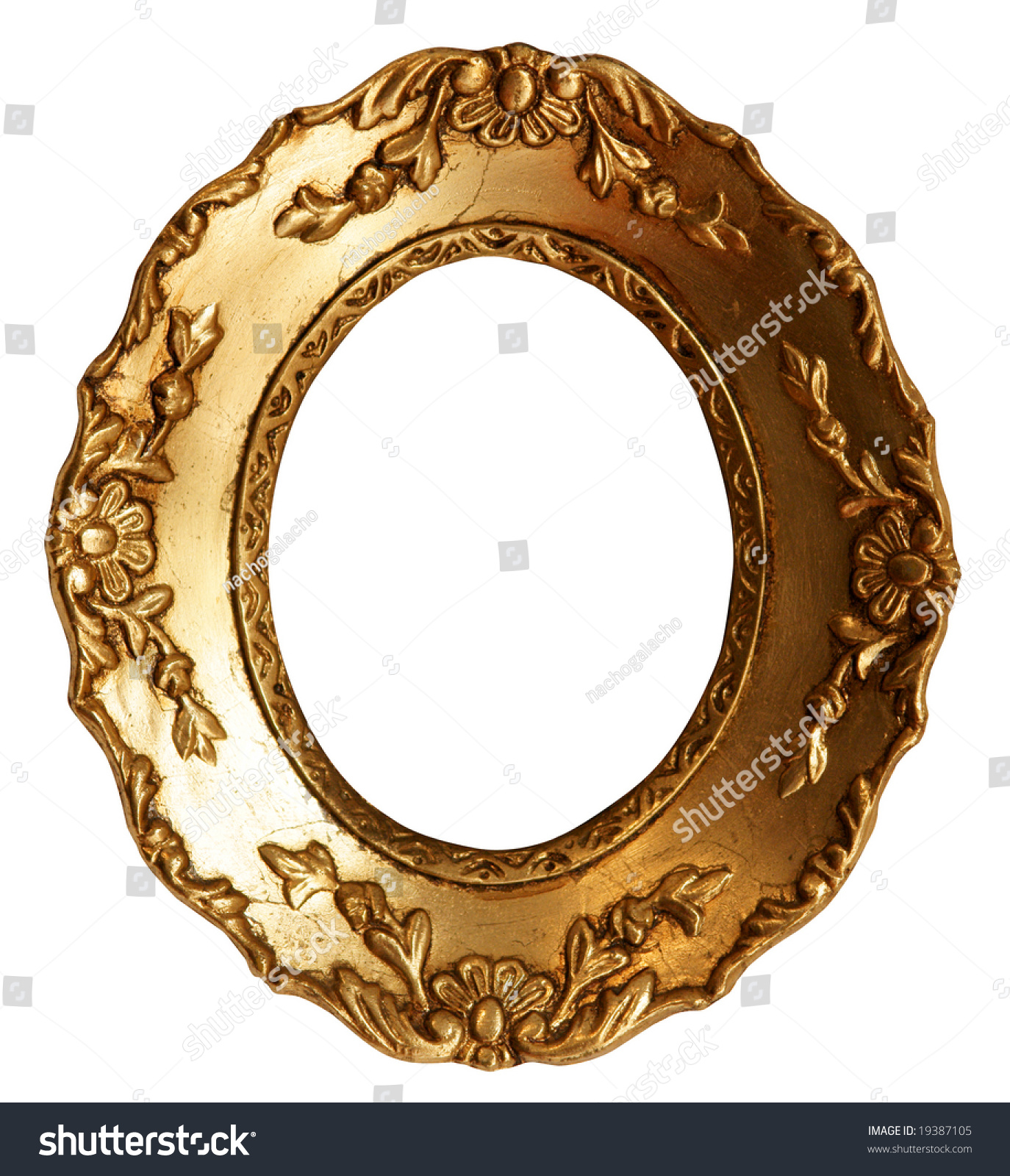 Baroque small gold mirror picture frame with ornaments for Small baroque mirror
