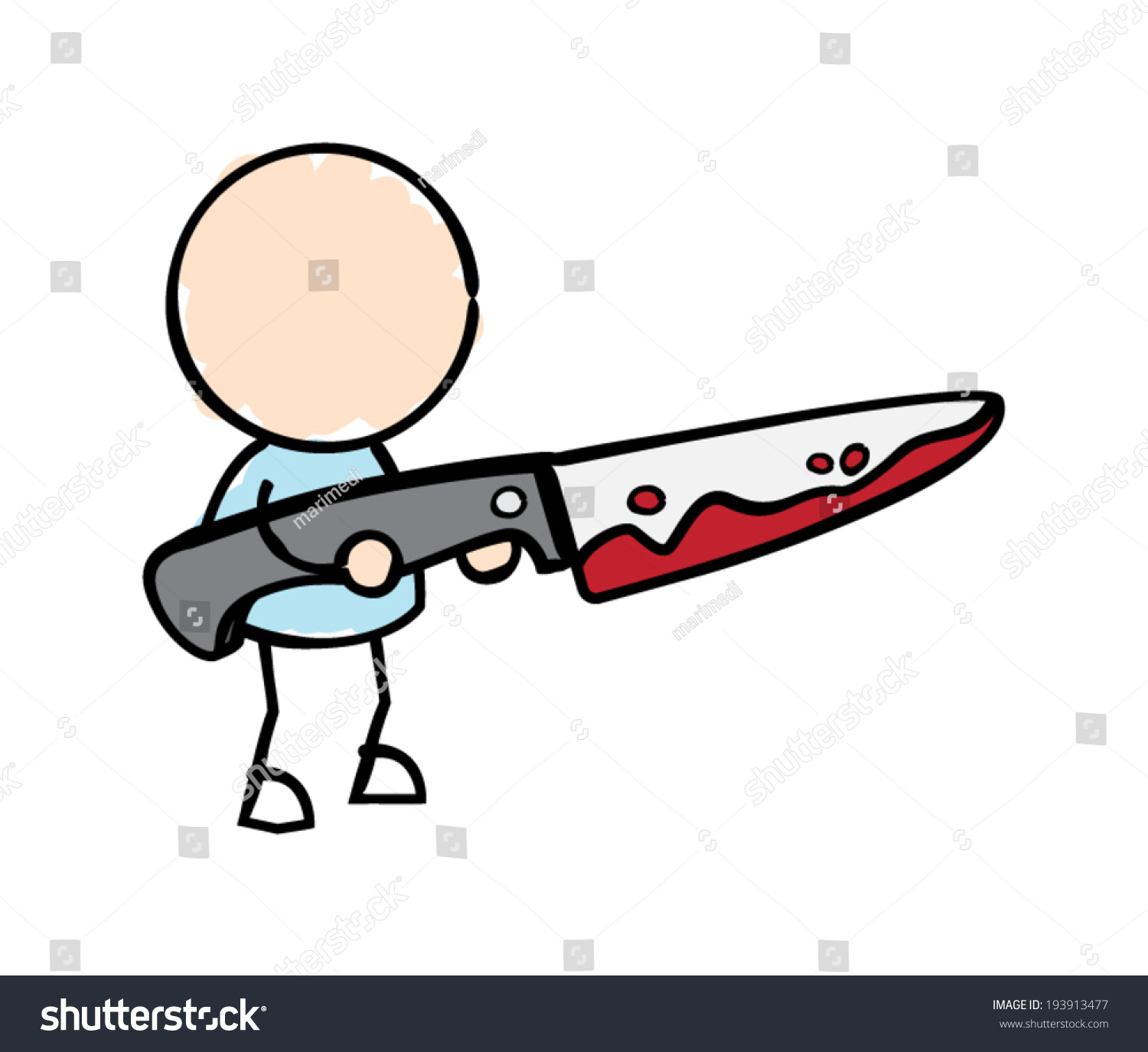 man holding bloody knife stock vector hd royalty free 193913477 rh shutterstock com knife with blood clipart