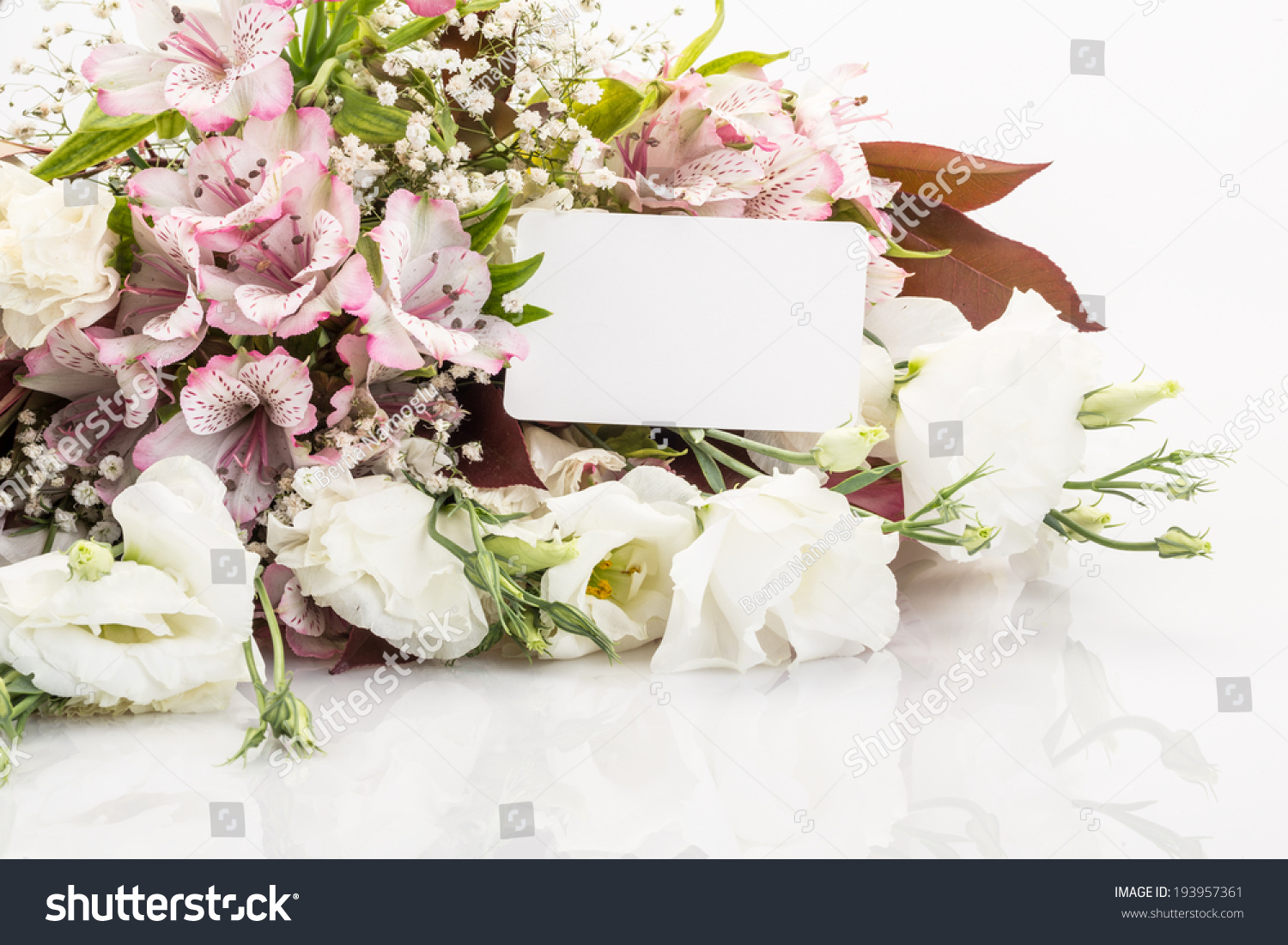 Bouquet Flowers Name Tag On Stock Photo Edit Now 193957361