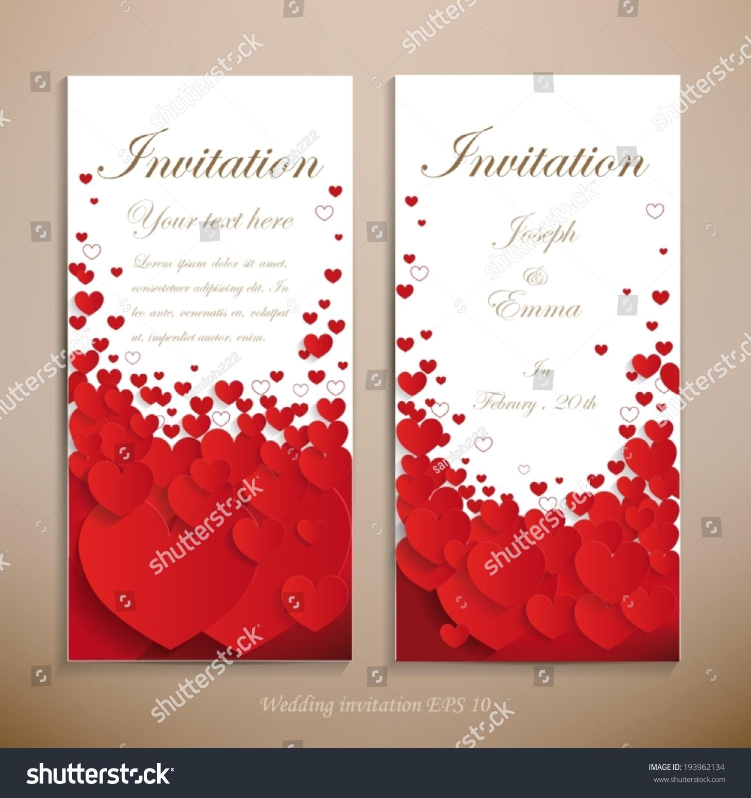 Lovely Wedding Invitation Beautiful Wedding Invitation Stock Vector ...
