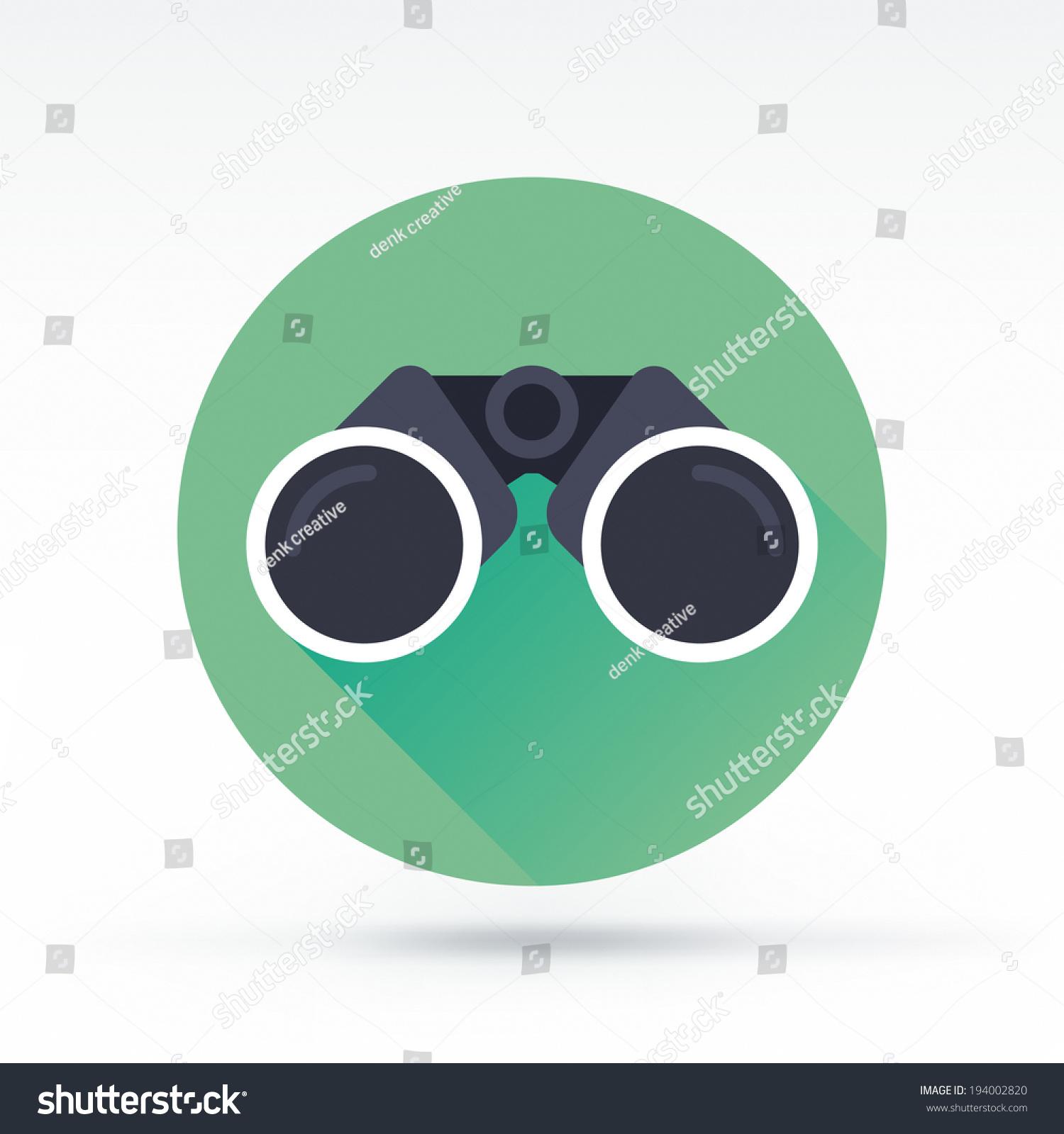 binoculars icon flat - photo #18